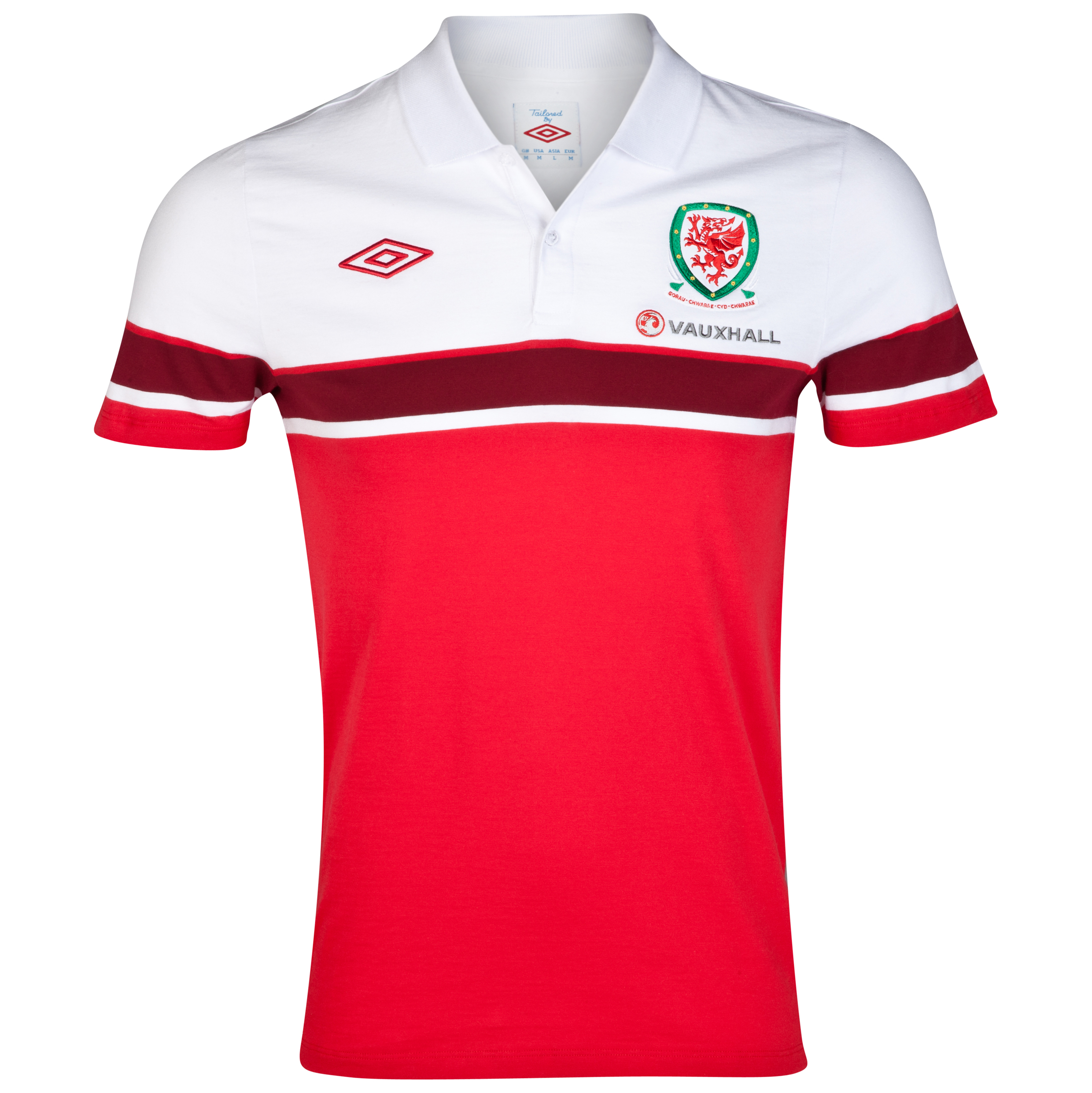 Wales Cotton Polo - Vermillion / White / Biking Red