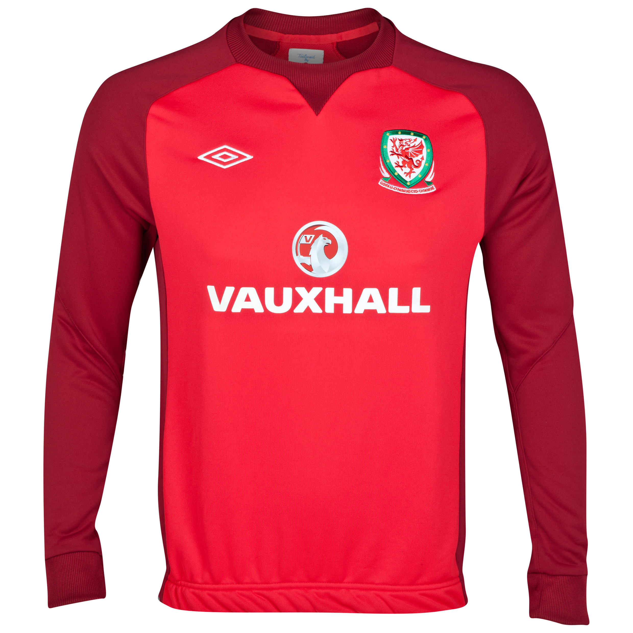 Wales Training Sweat Top - Vermillion / Biking Red