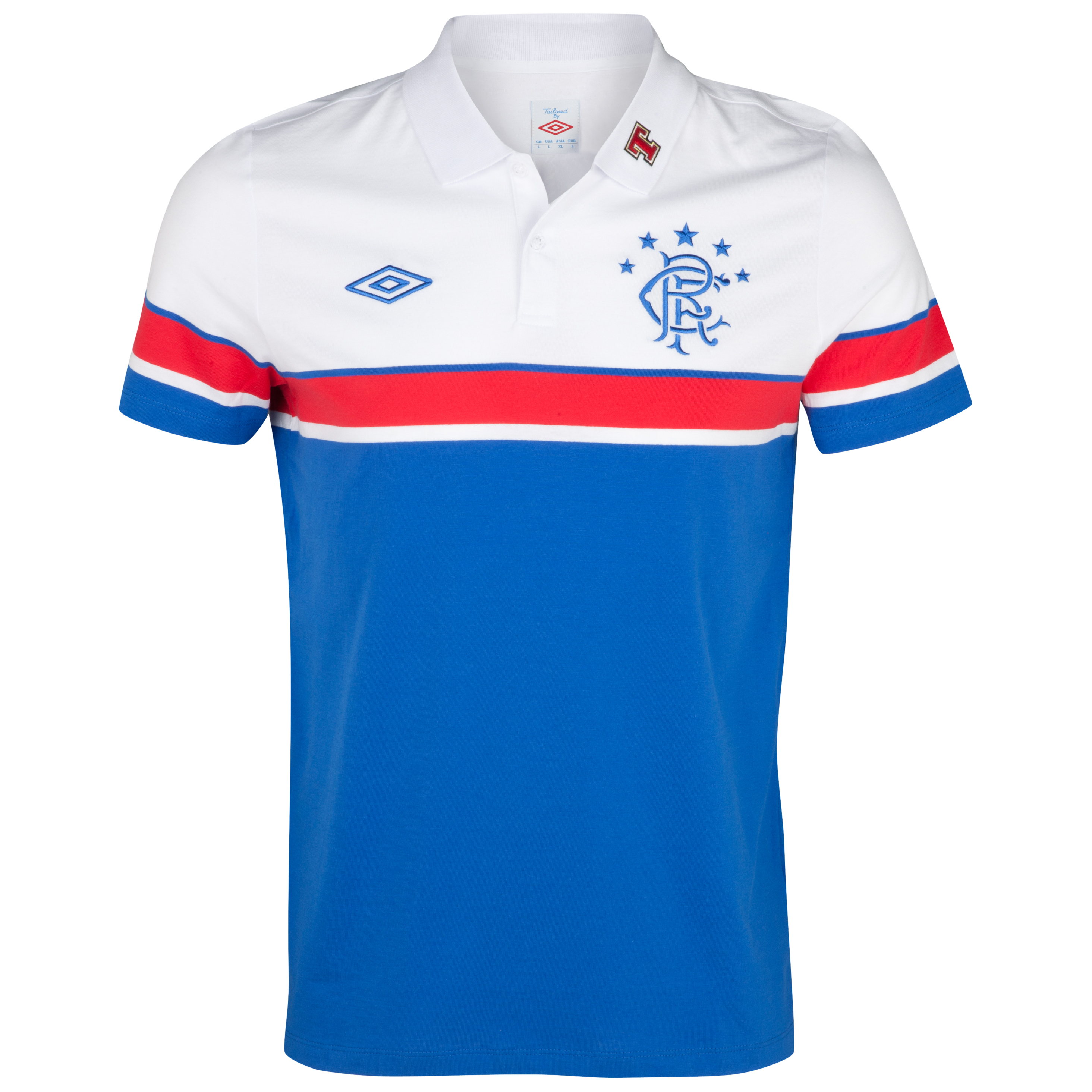Glasgow Rangers Training Polo - Royal /White/Vermillion