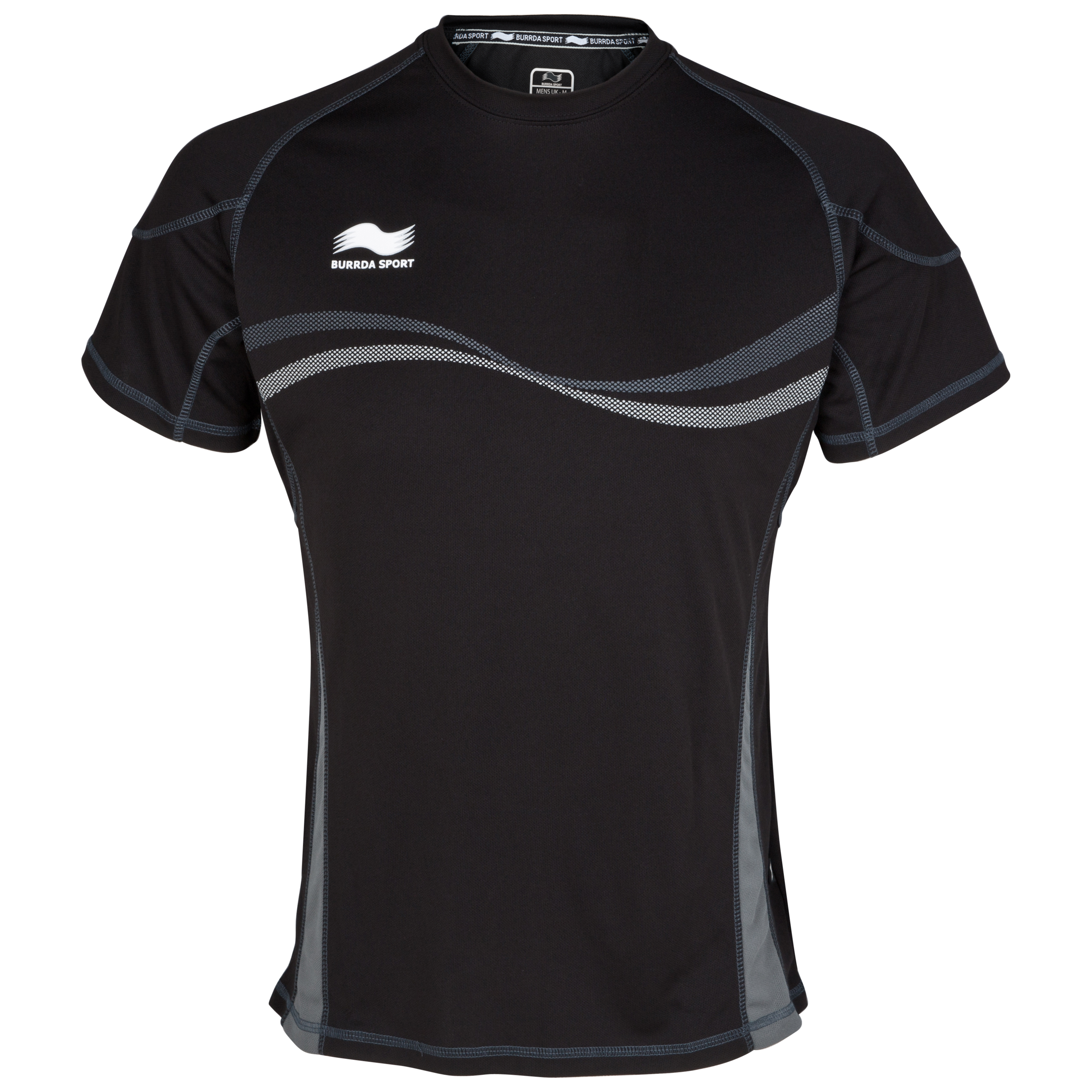 Burrda Sport Rugby Training T-Shirt - Black