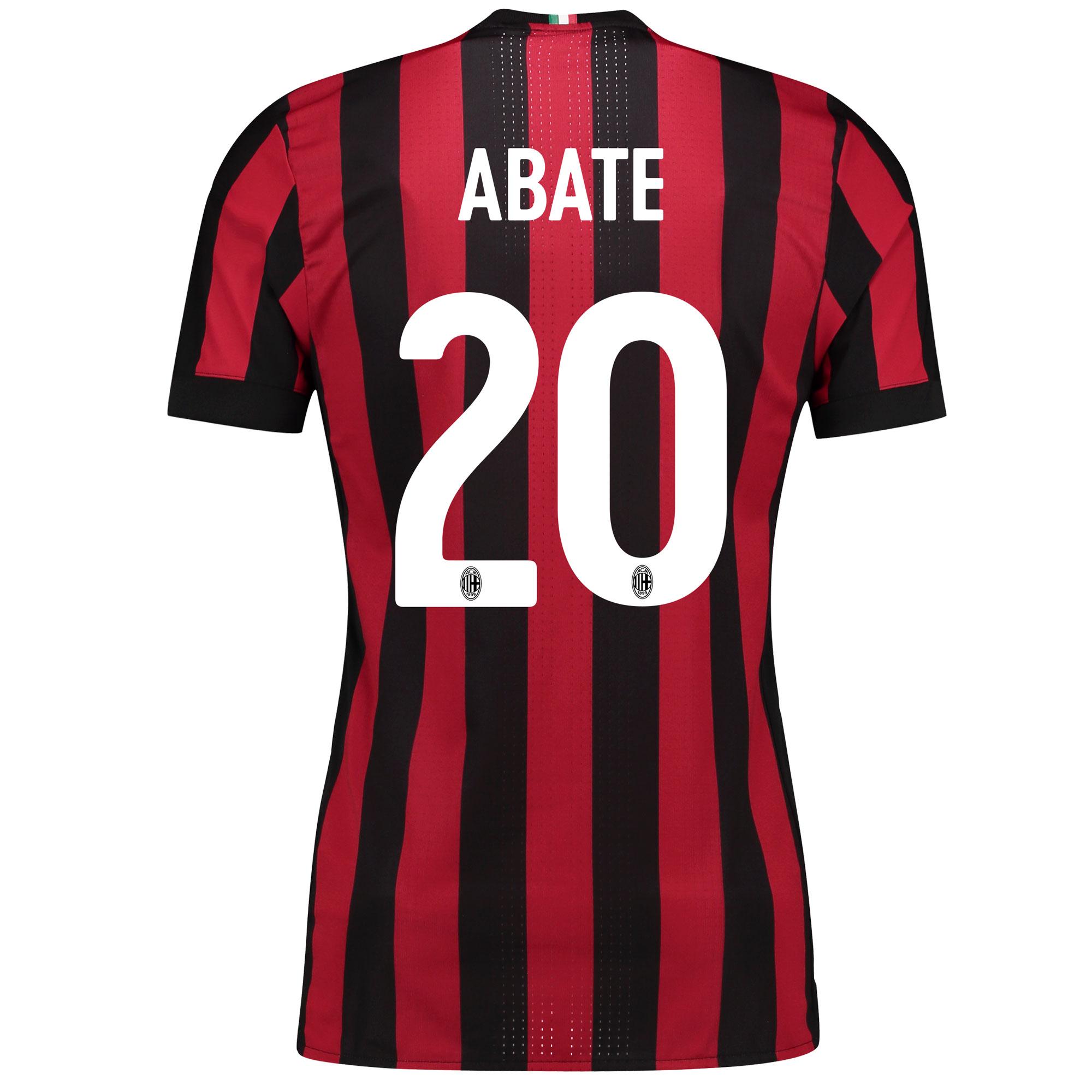AC Milan Home Adi Zero Shirt 2017-18 with Abate 20 printing