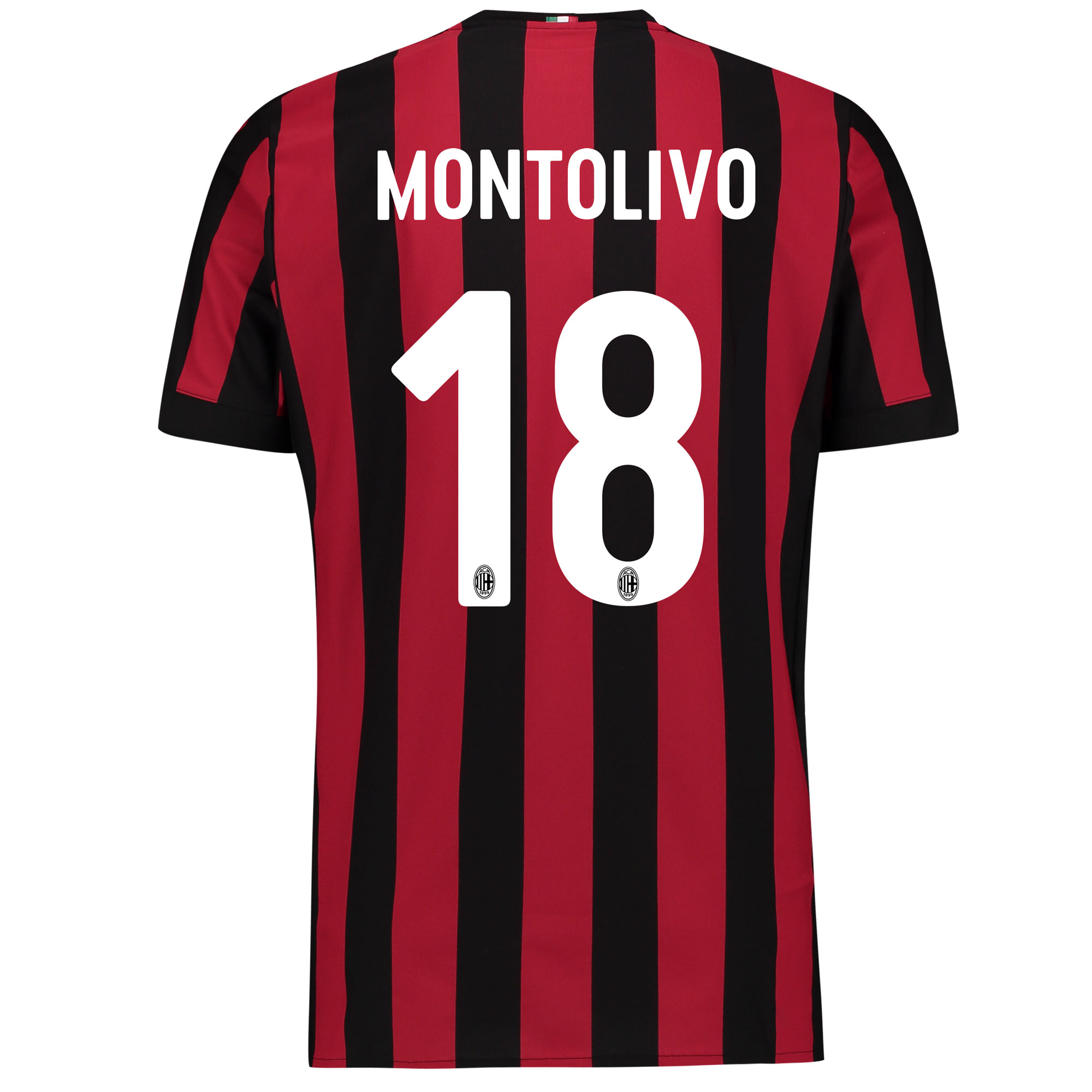 AC Milan Home Shirt 2017-18 with Montolivo 18 printing