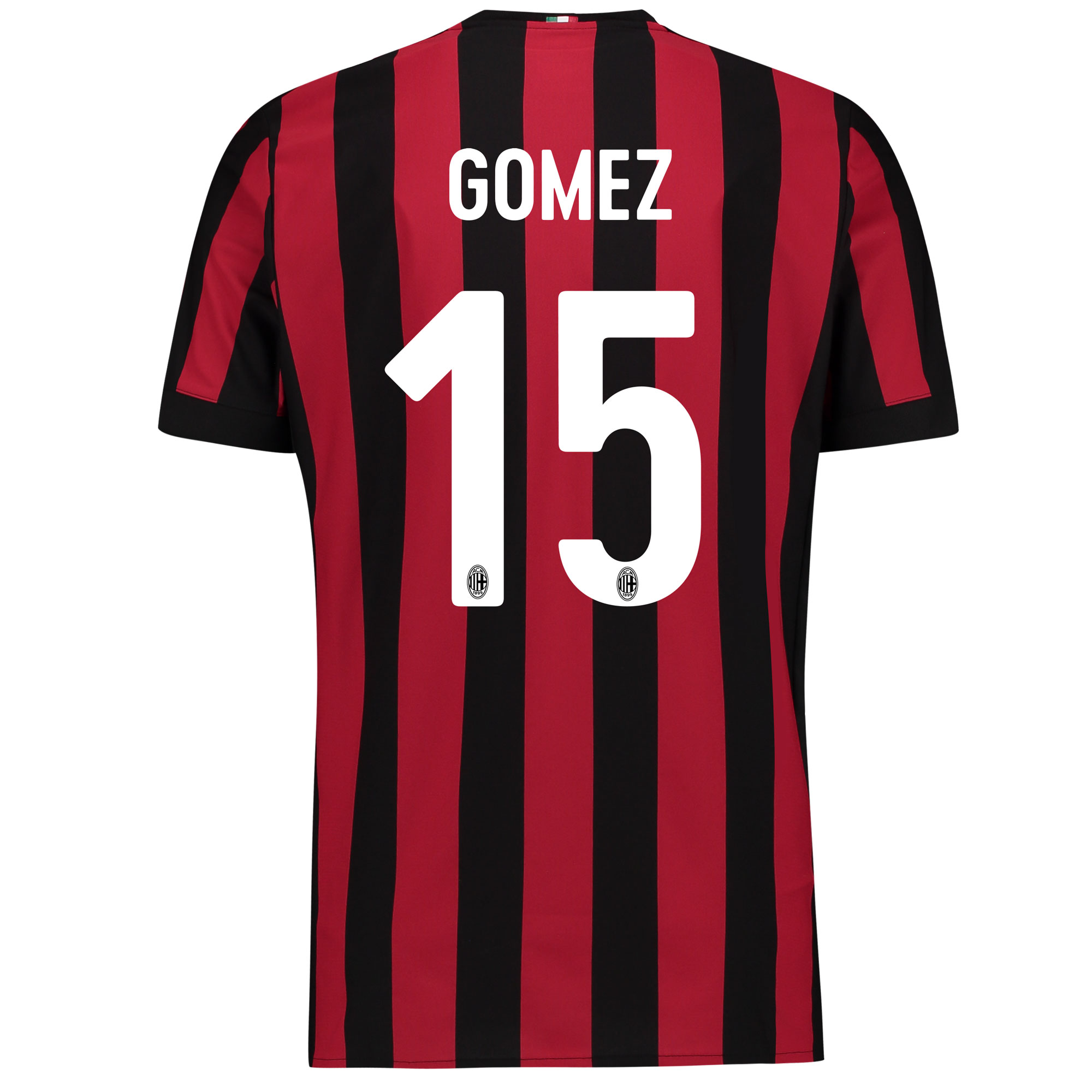AC Milan Home Shirt 2017-18 - Kids with Gomez 15 printing