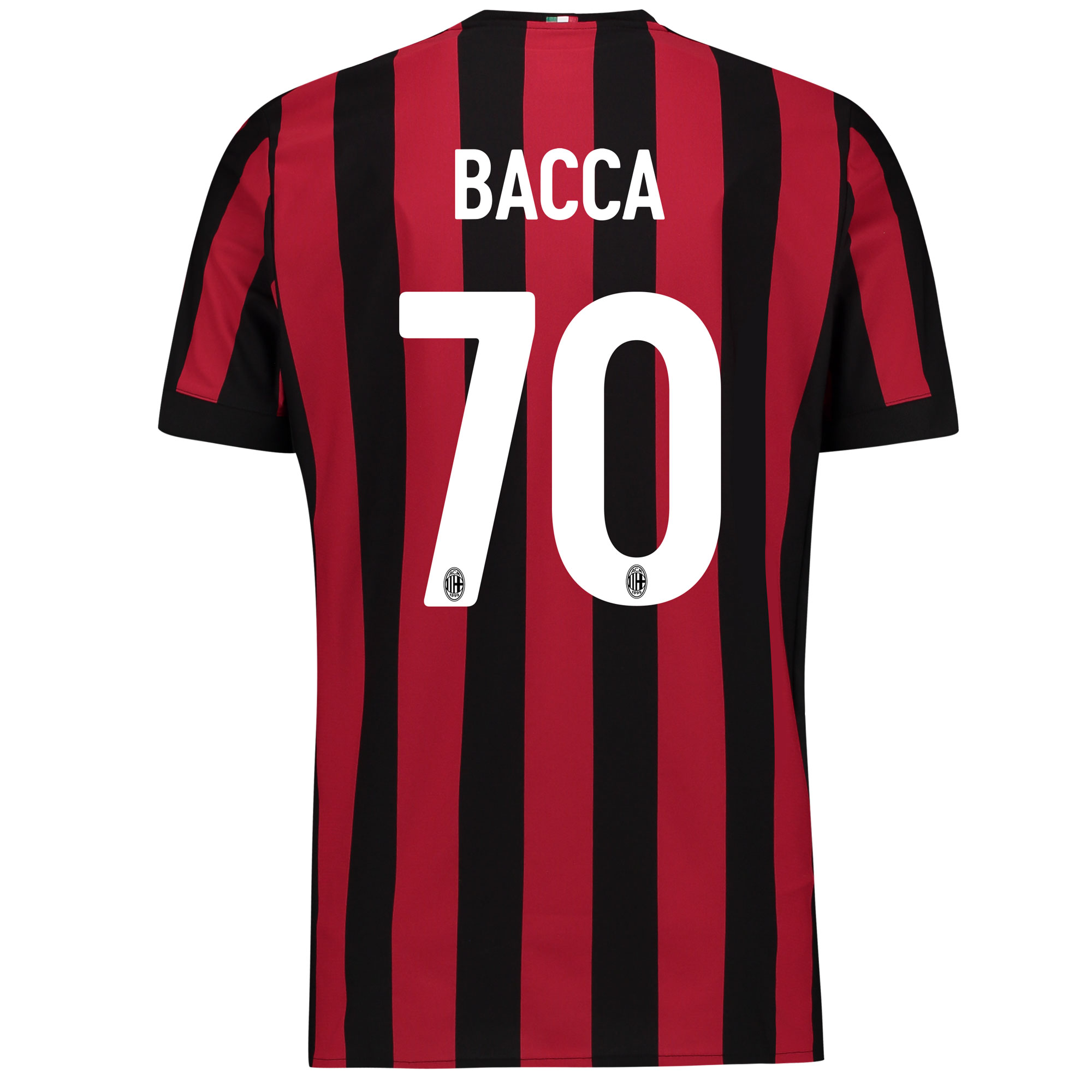 AC Milan Home Shirt 2017-18 - Kids with Bacca 70 printing