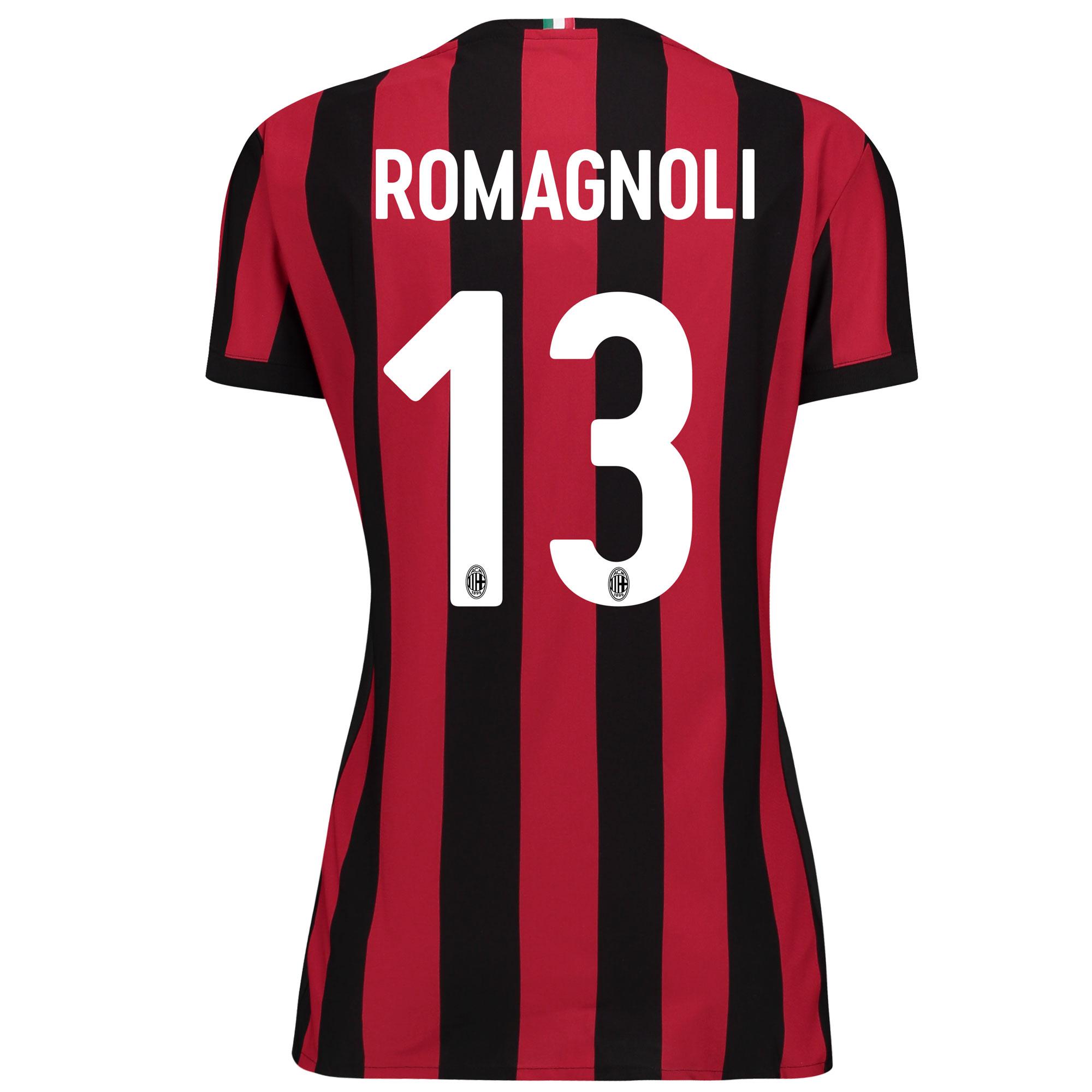 AC Milan Home Shirt 2017-18 - Womens with Romagnoli 13 printing