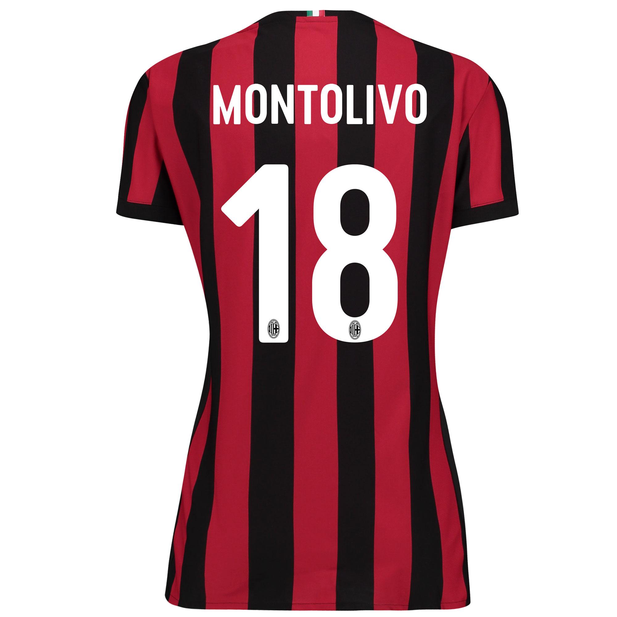 AC Milan Home Shirt 2017-18 - Womens with Montolivo 18 printing