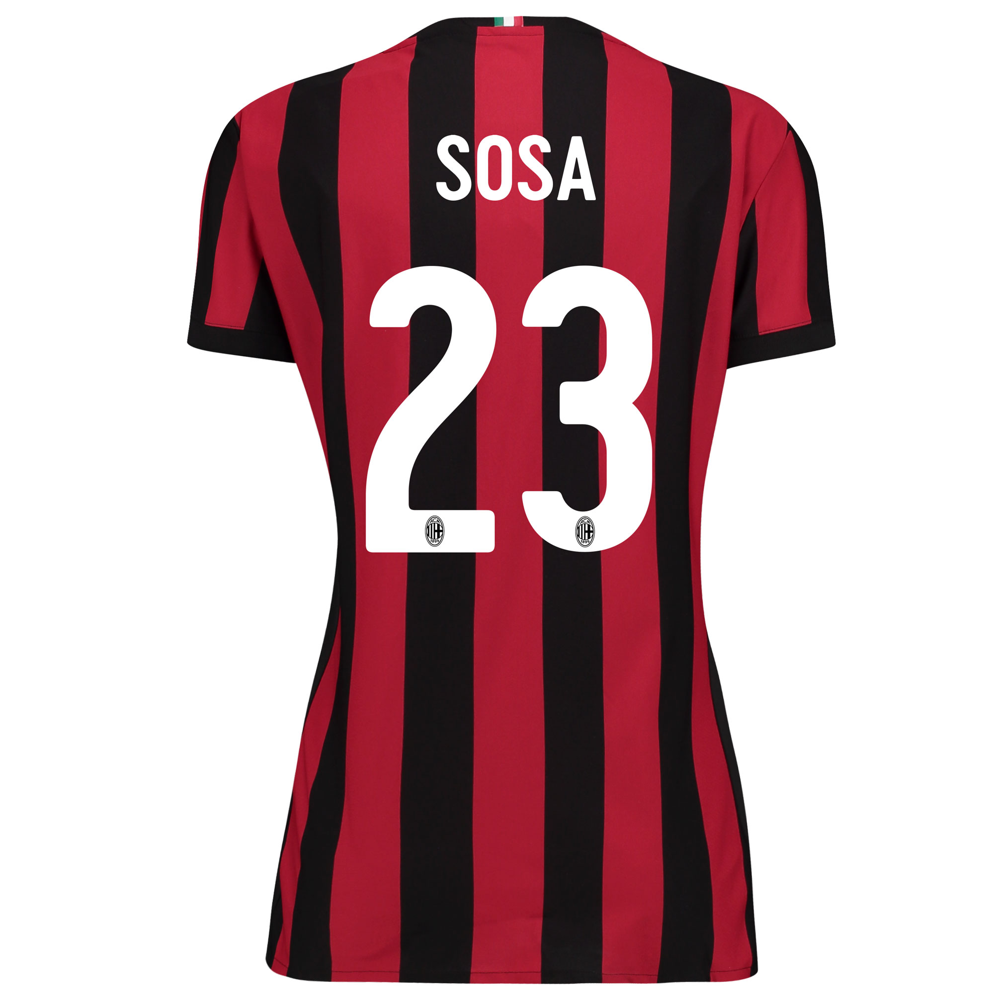 AC Milan Home Shirt 2017-18 - Womens with Sosa 23 printing