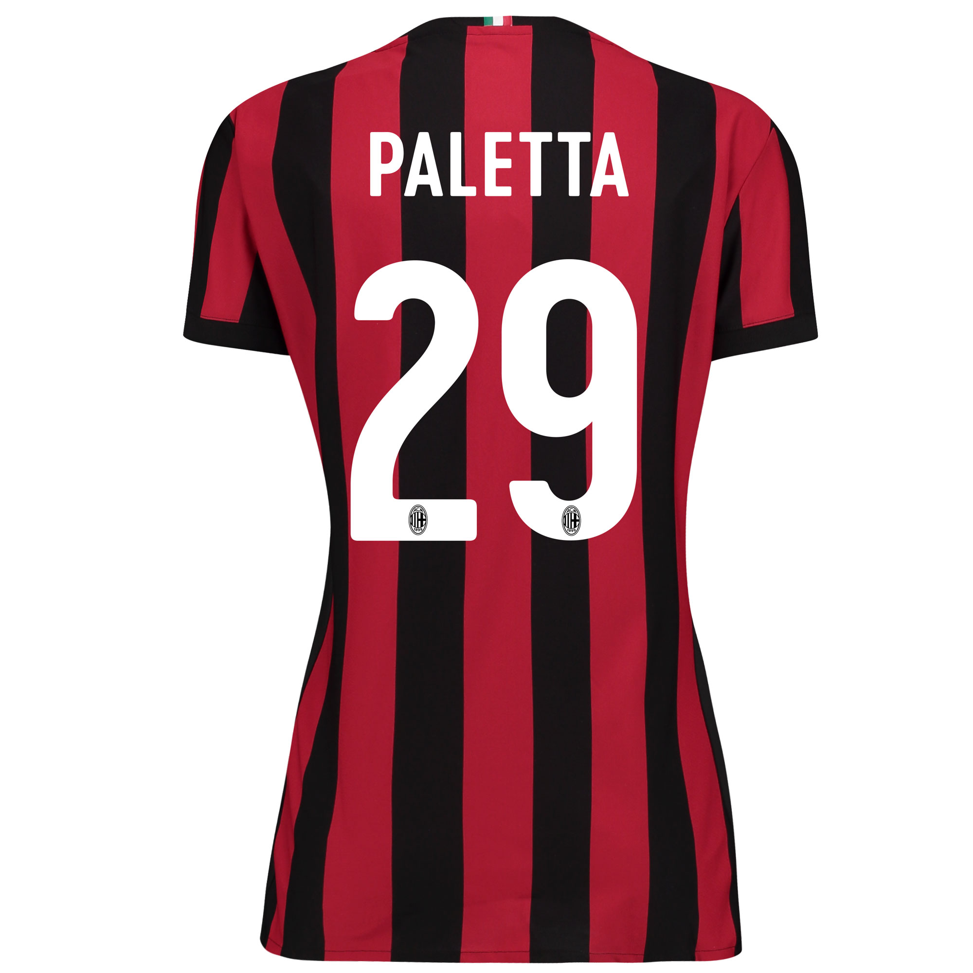 AC Milan Home Shirt 2017-18 - Womens with Paletta 29 printing
