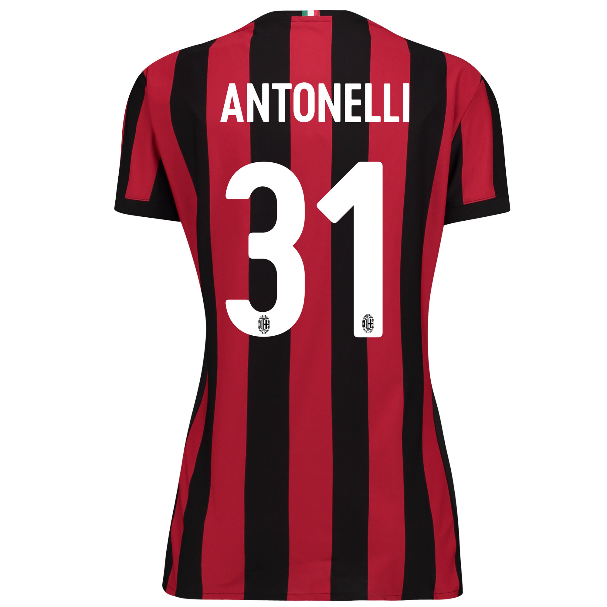 AC Milan Home Shirt 2017-18 - Womens with Antonelli 31 printing