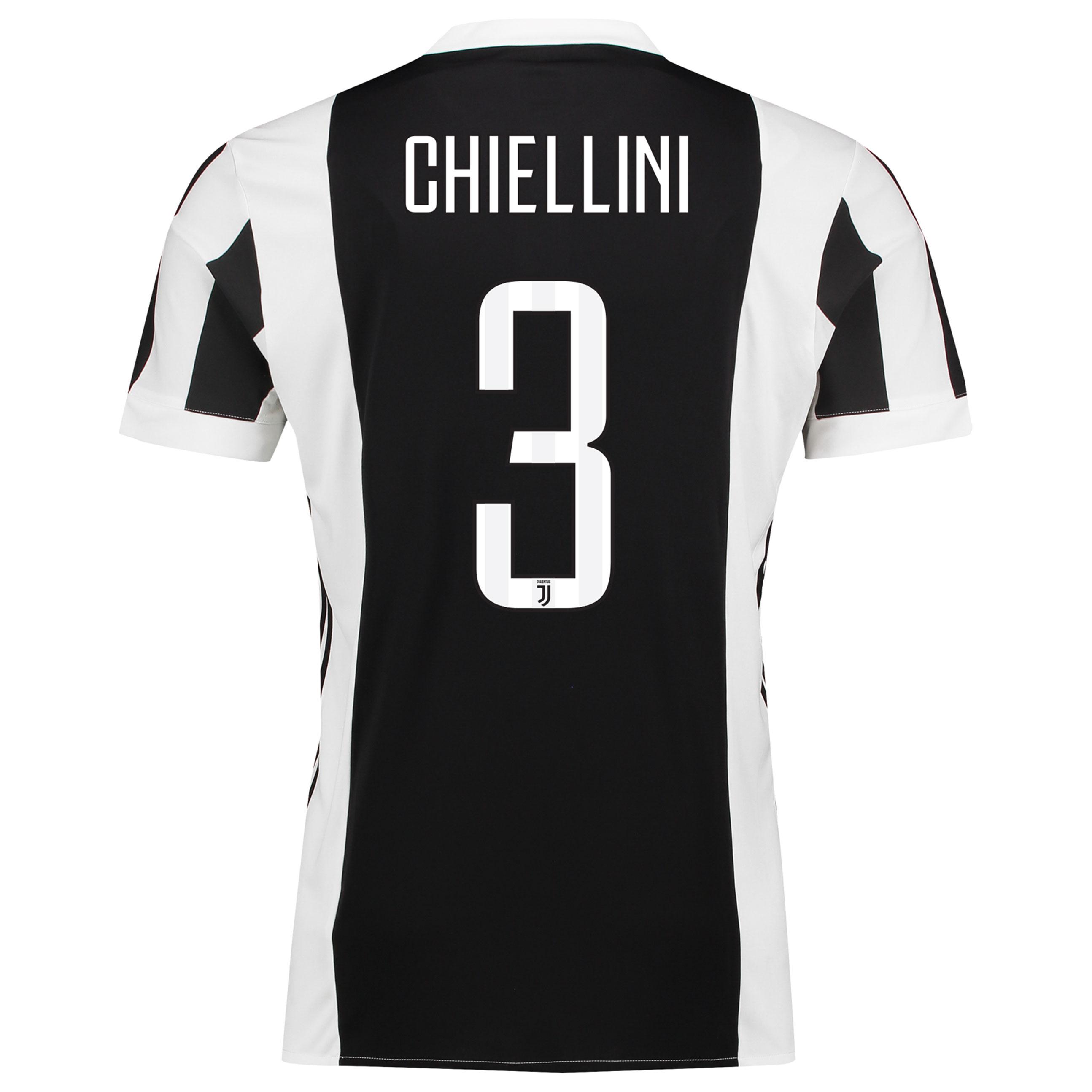 Juventus Home Mini Kit 2017-18 with Chiellini 3 printing