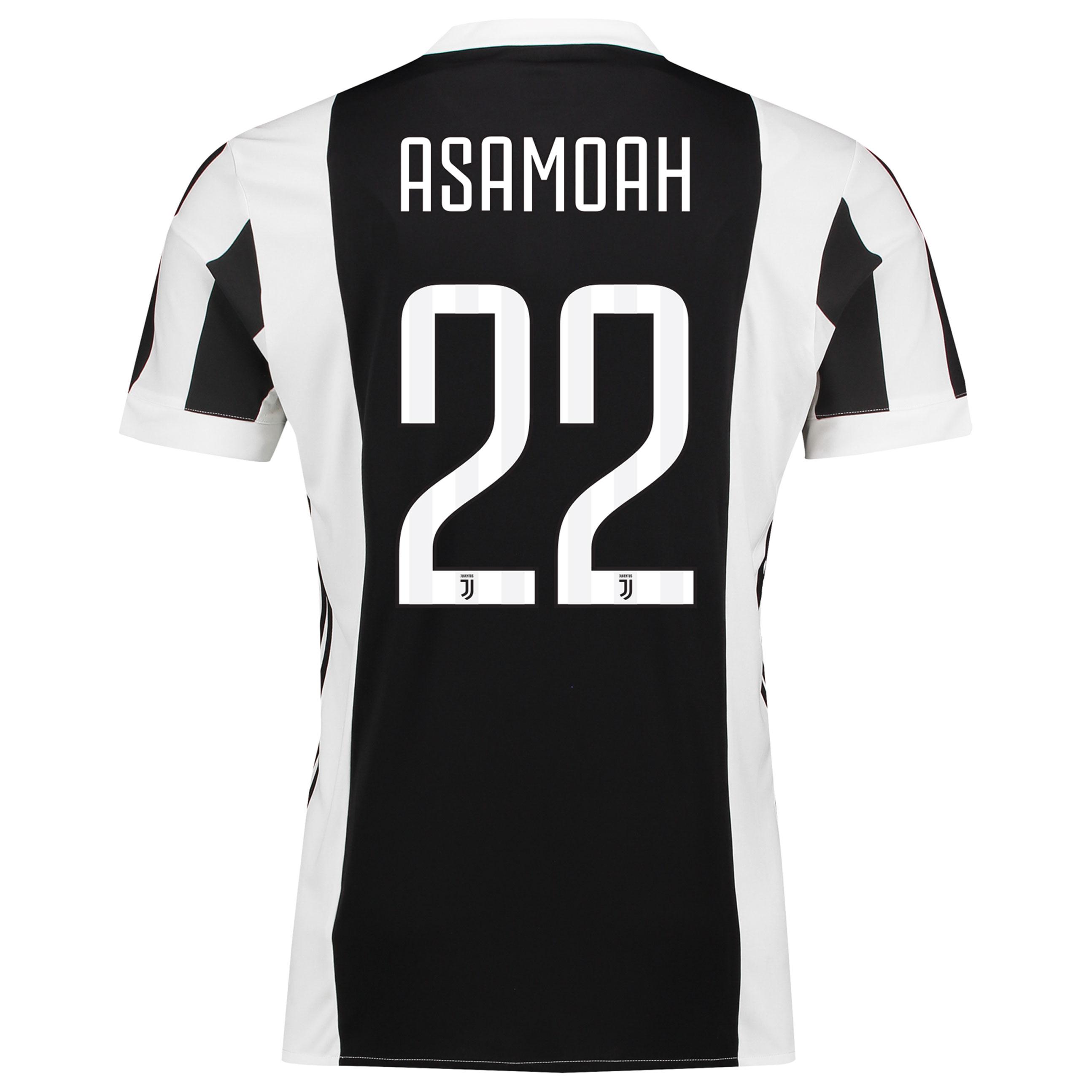 Juventus Home Mini Kit 2017-18 with Asamoah 22 printing
