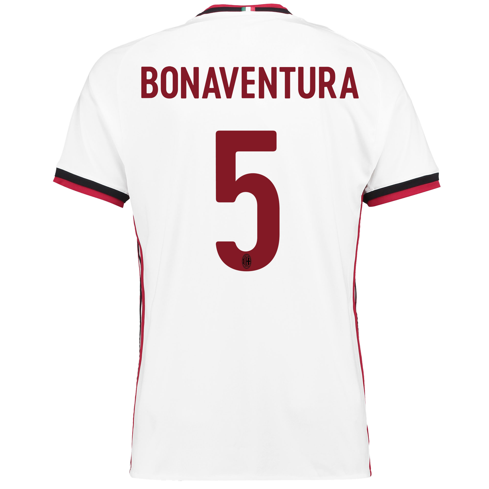 AC Milan Away Shirt 2017-18 with Bonaventura 5 printing
