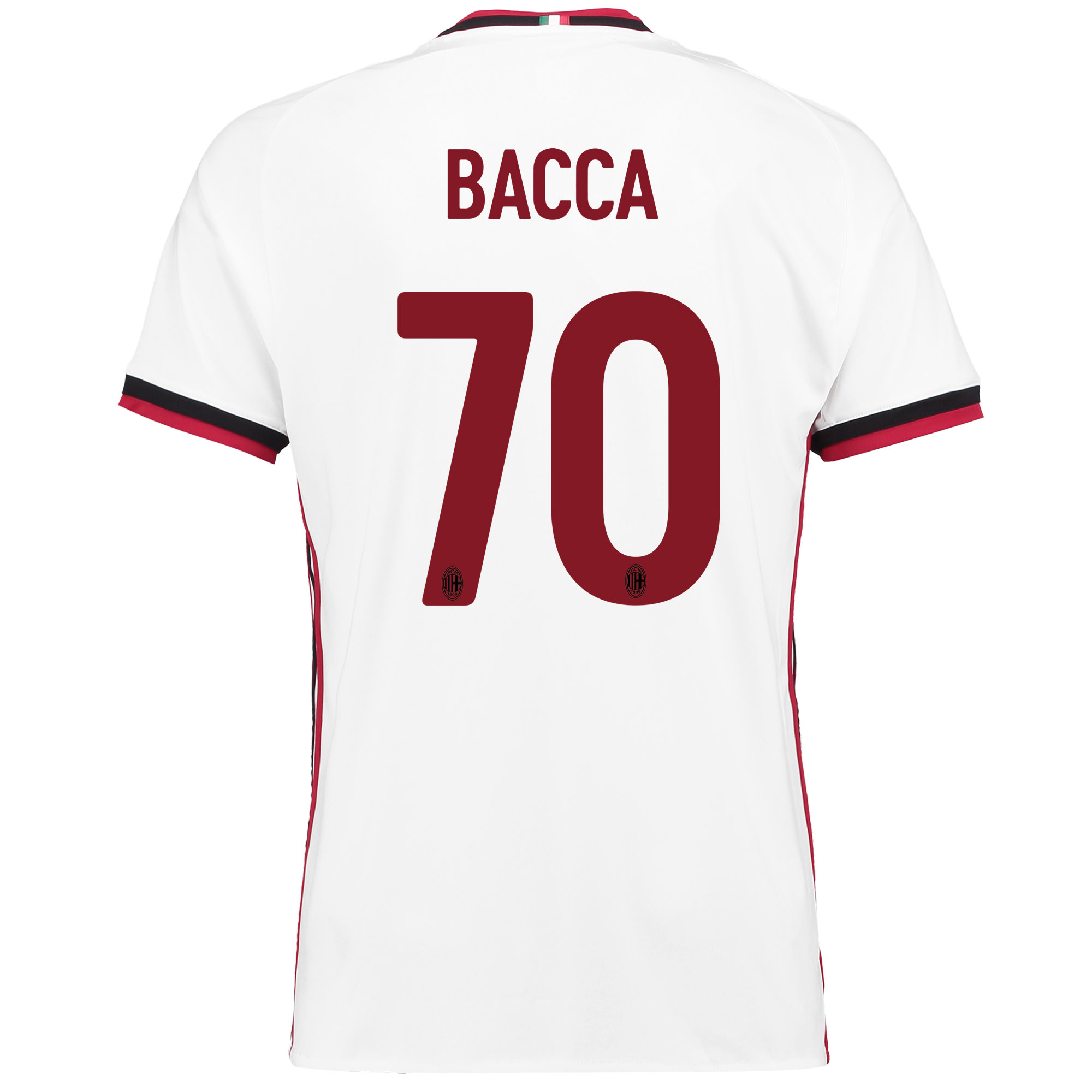 AC Milan Away Shirt 2017-18 with Bacca 70 printing