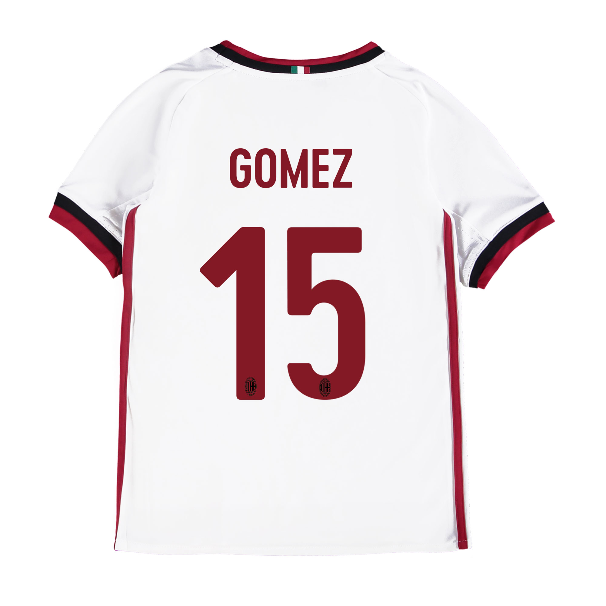 AC Milan Away Shirt 2017-18 - Kids with Gomez 15 printing