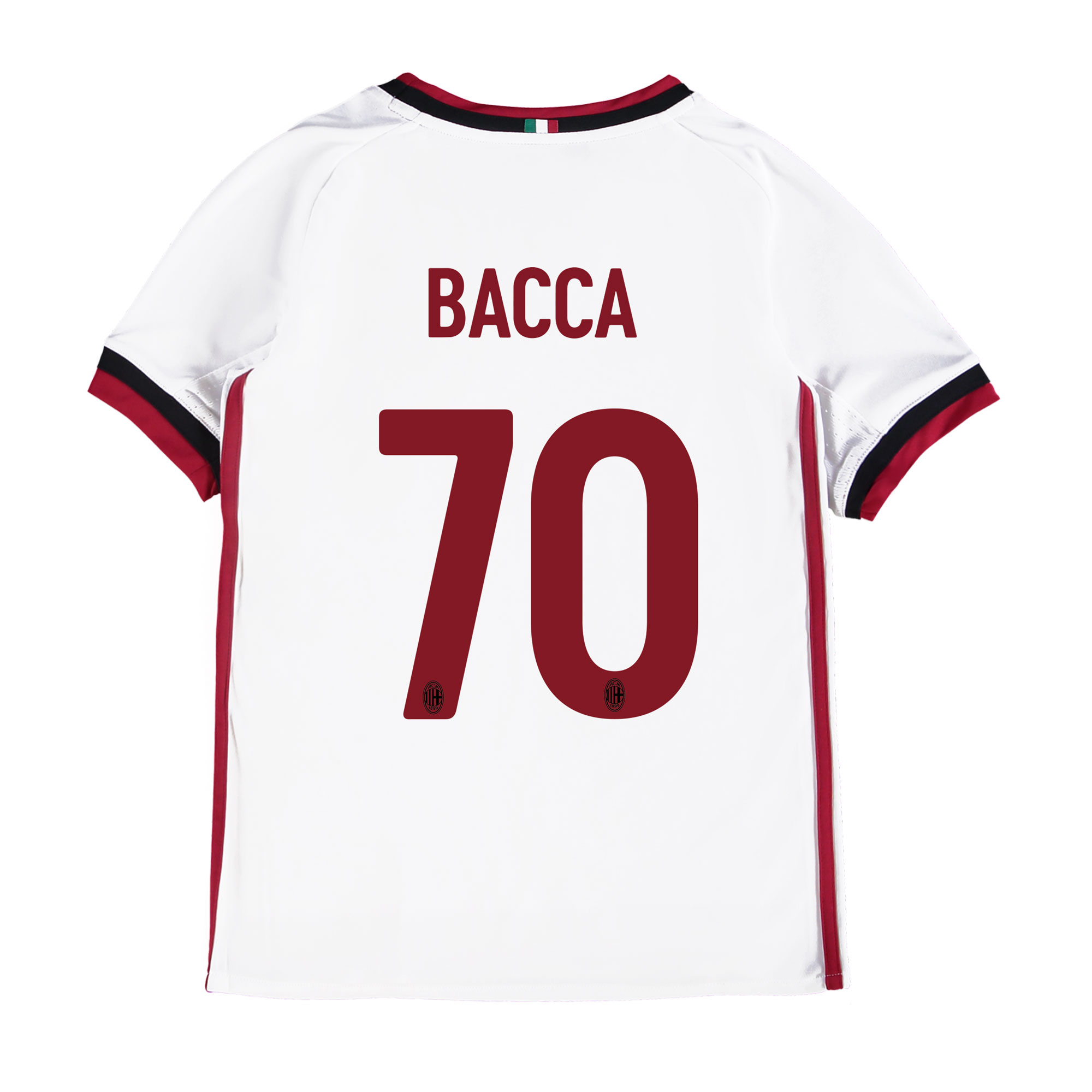 AC Milan Away Shirt 2017-18 - Kids with Bacca 70 printing