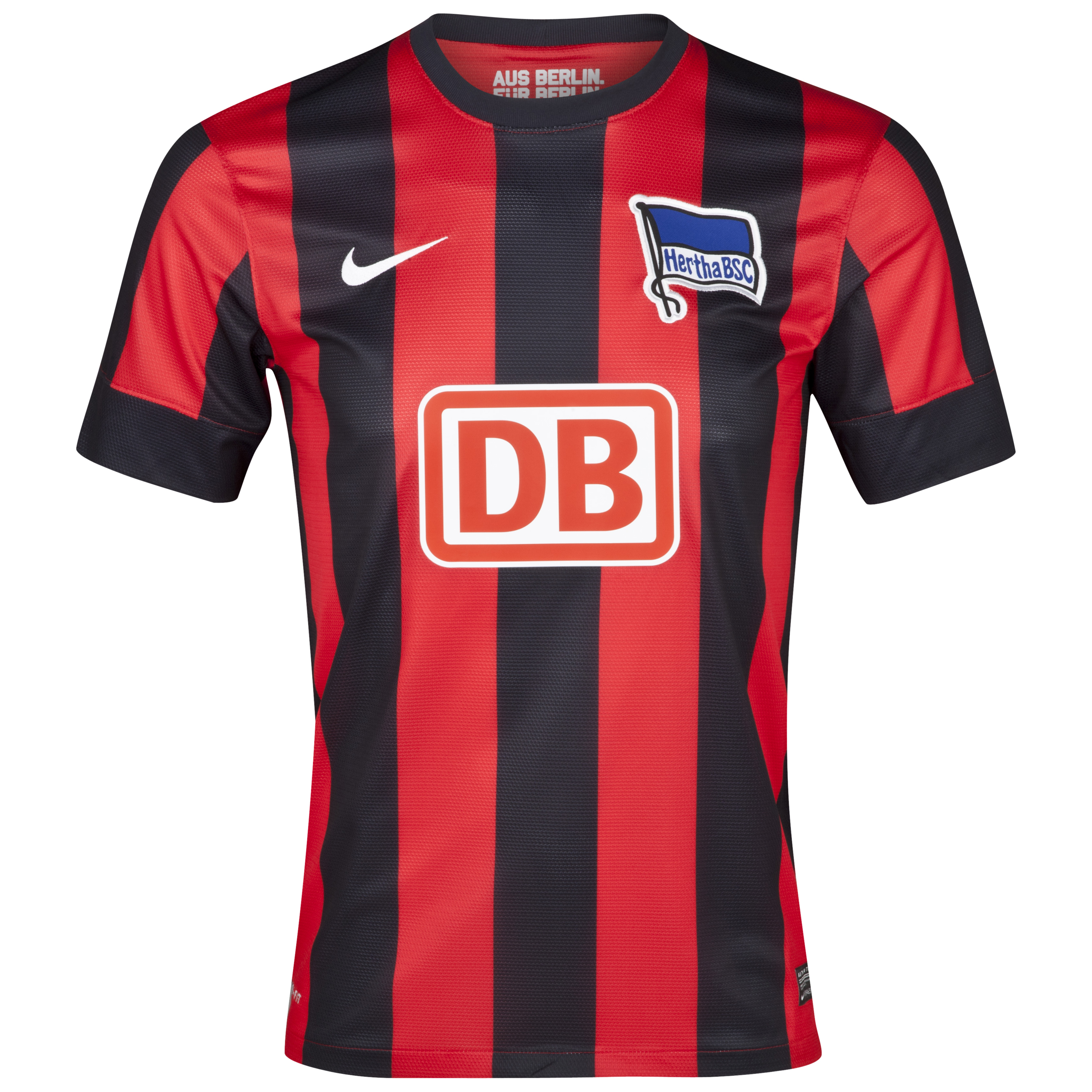 Hertha Berlin 2012/13 Away Shirt - Challenge Red/Black/Football White