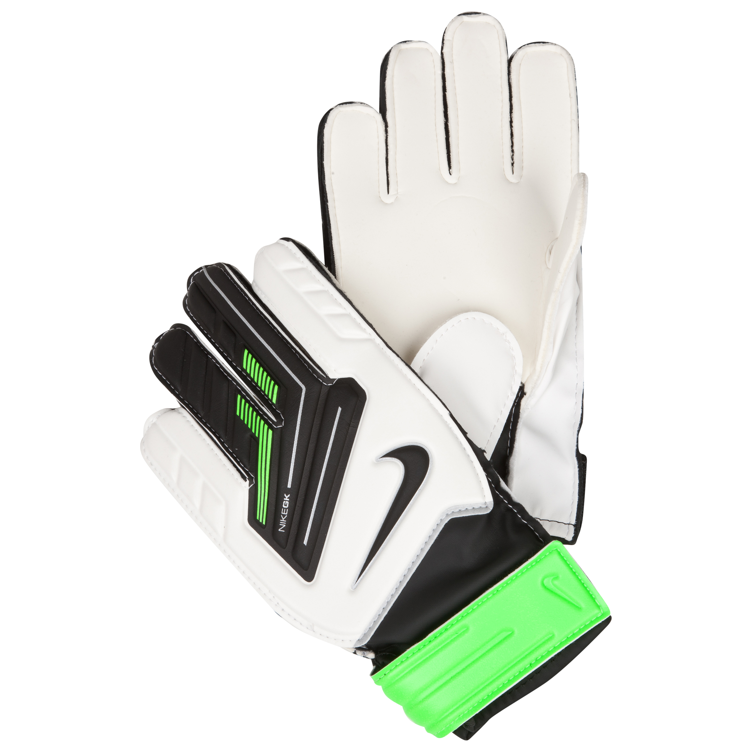 Nike Goalkeeper Grip Goalkeeper Gloves - White/Green/Black