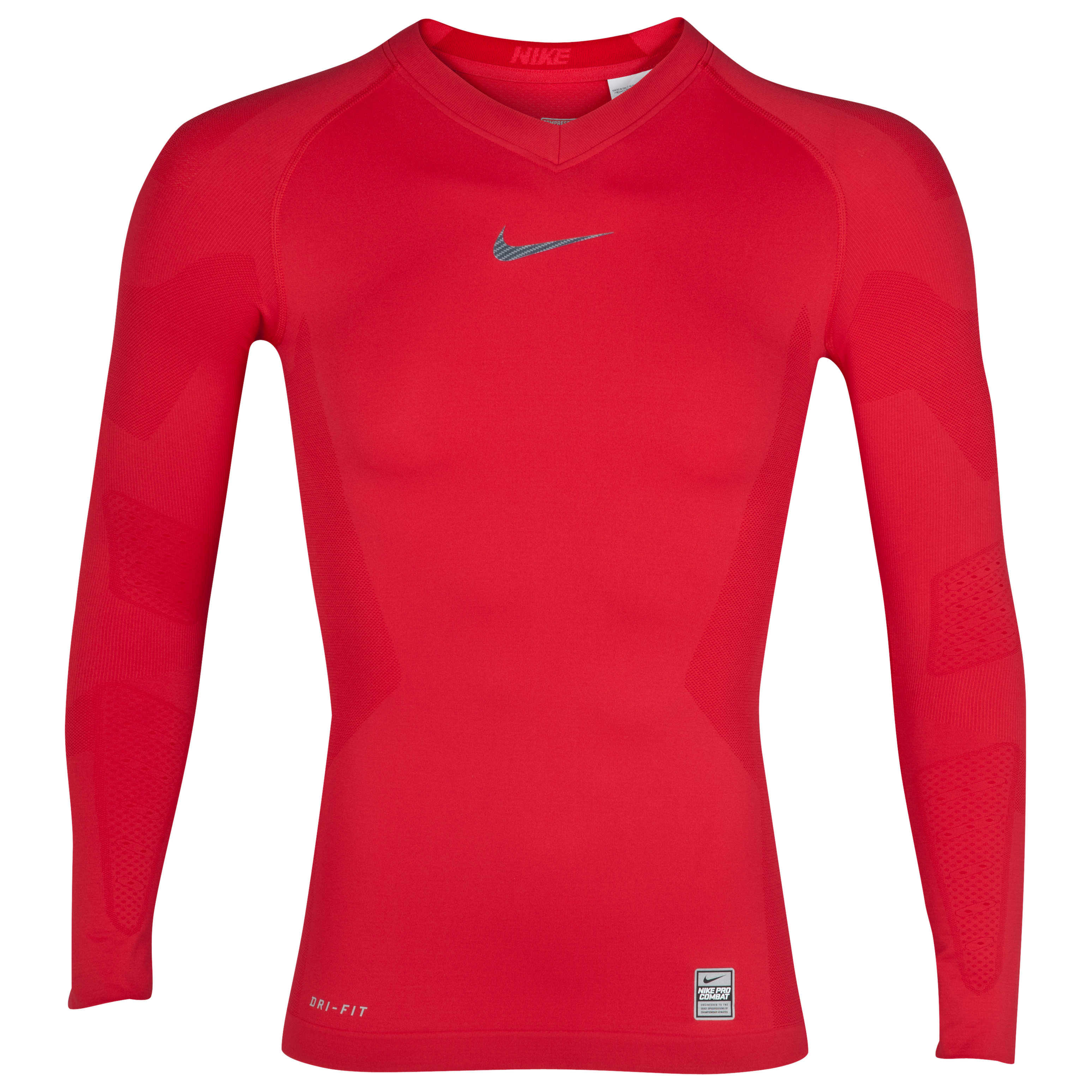 Nike Pro Combat Hypercool Top - Long Sleeve - Diablo Red