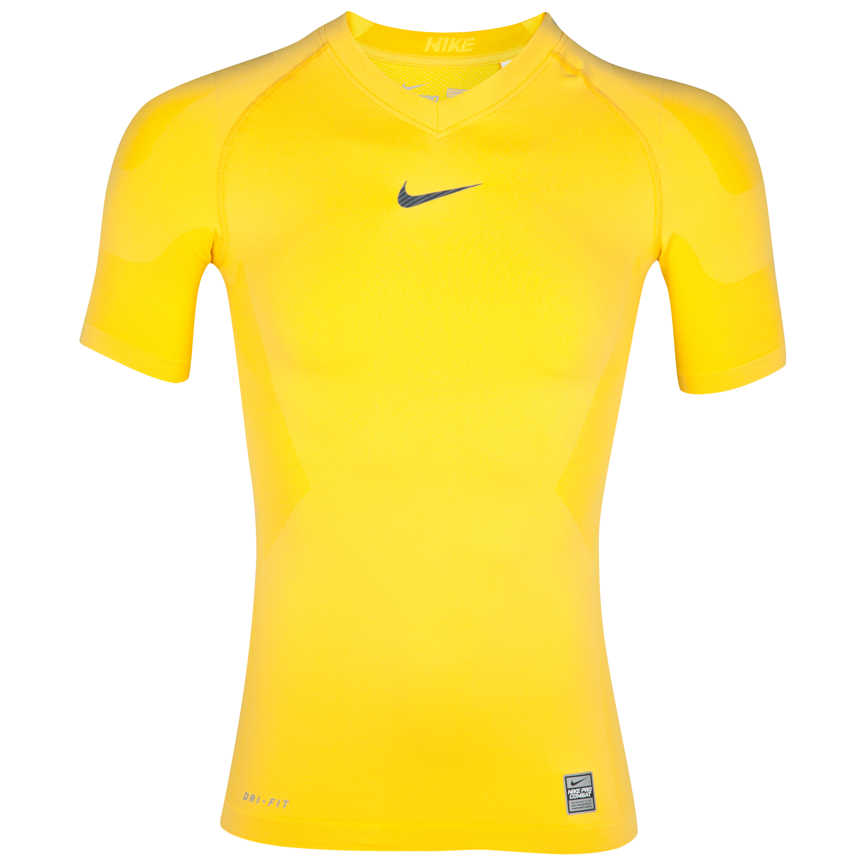 Nike Pro Combat Hypercool Baselayer Top - Varsity Maize