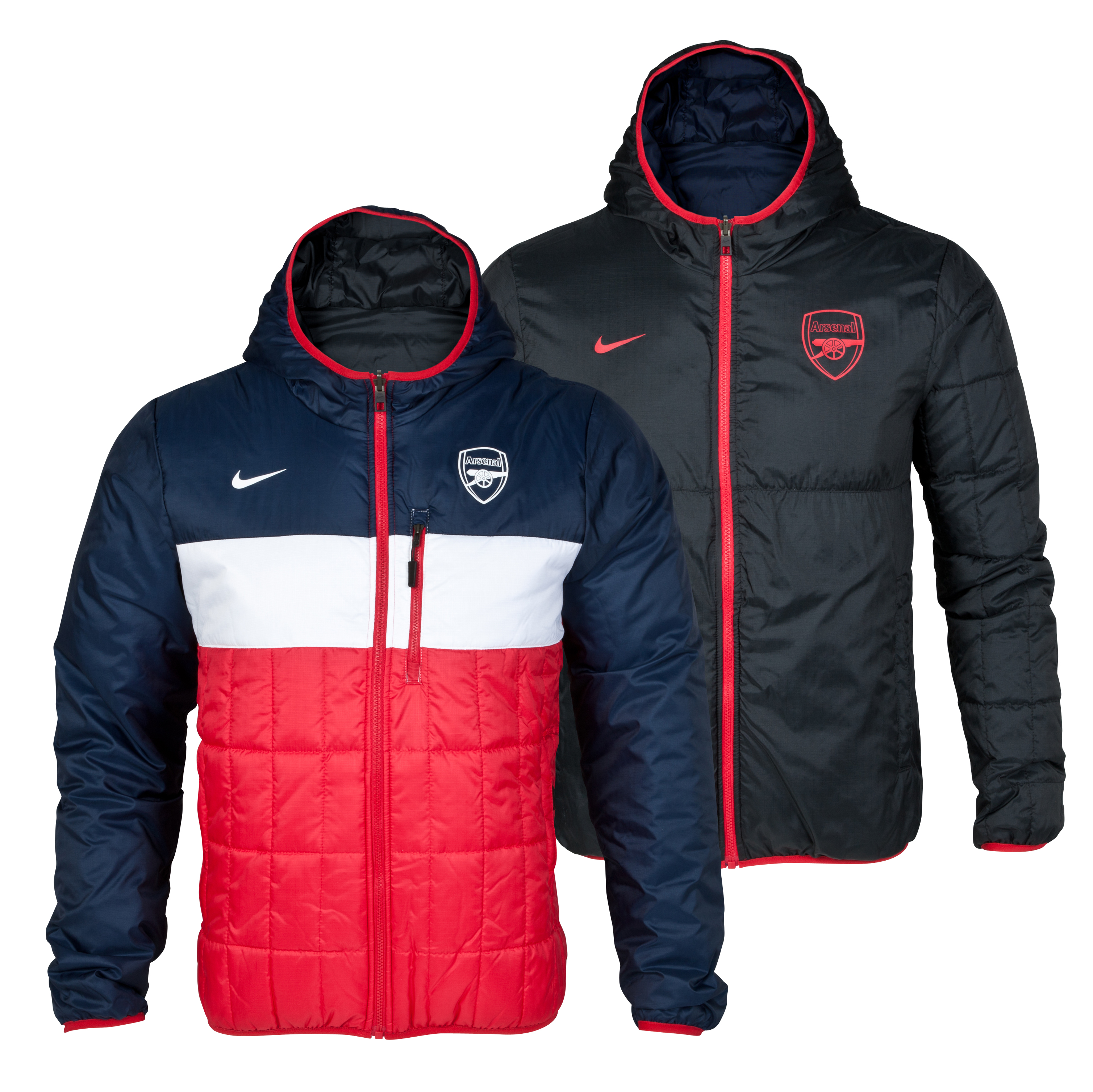 Arsenal Flip It Reversible Jacket - Artillery Red/Obsidian/White/White
