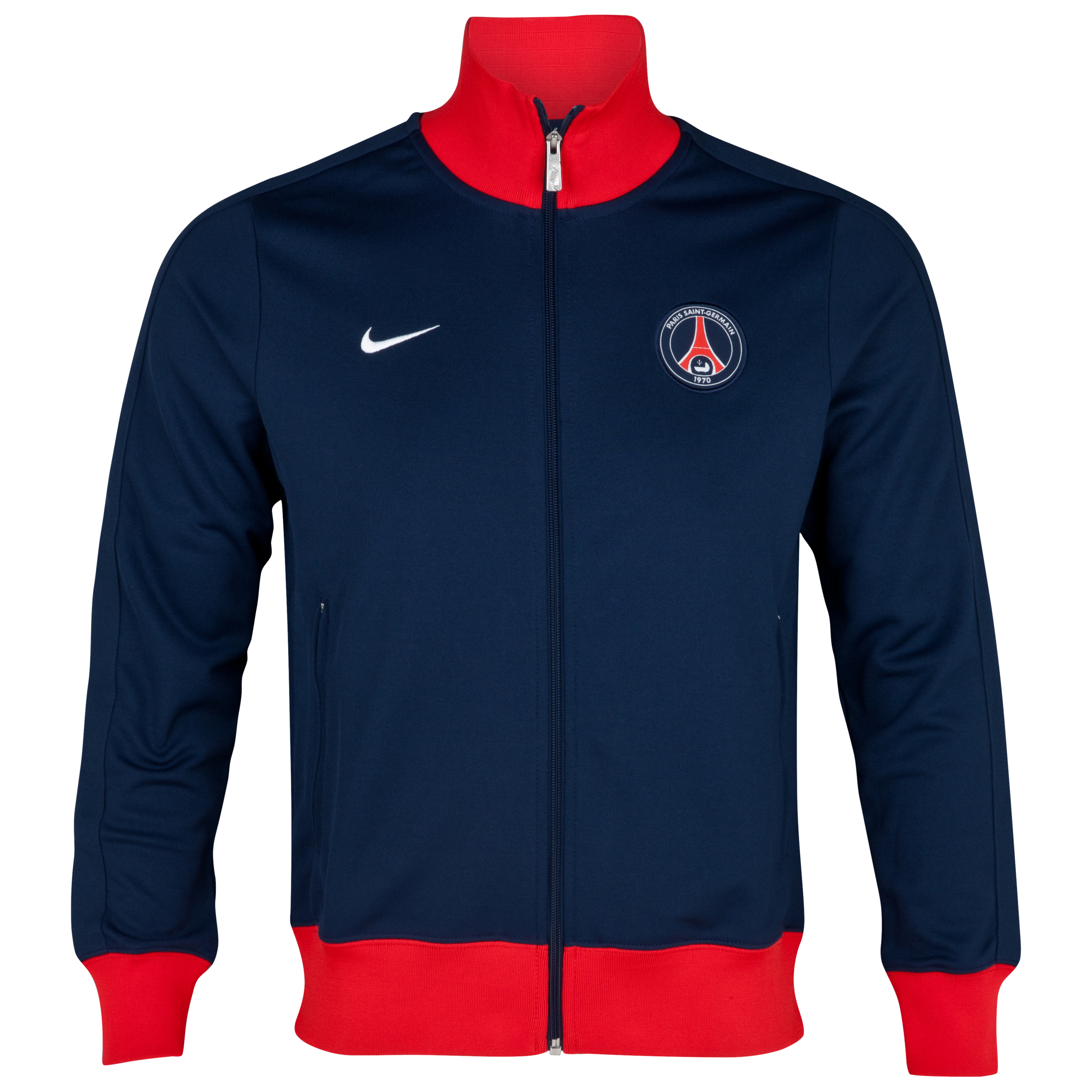 Paris Saint-Germain Authentic N98 Jacket - Midnight Navy/Challenge Red/White