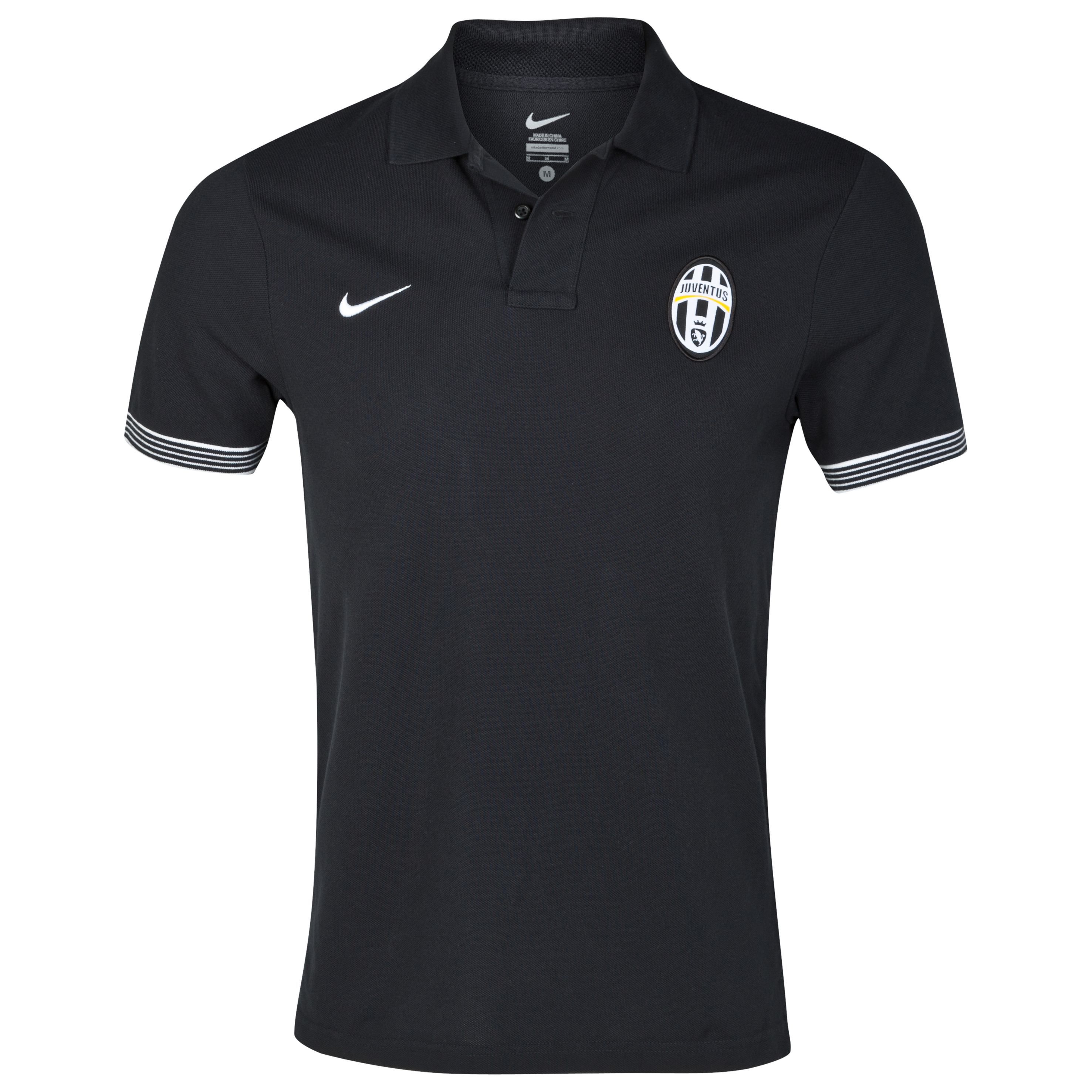 Juventus Authentic Short Sleeve Grand Slam Polo - Black/White