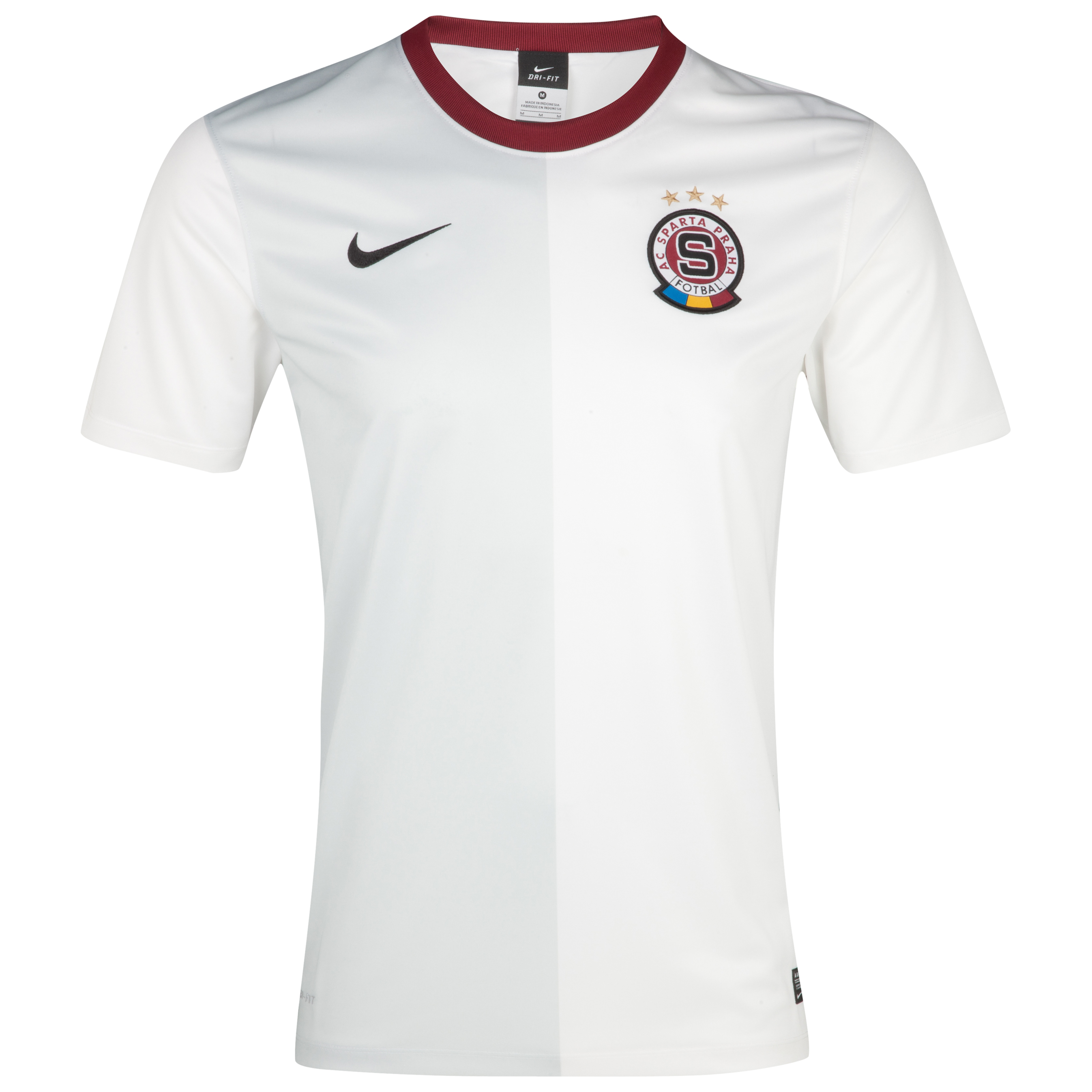 Sparta Prague 2012/13 Away Stadium Shirt - Football White/Team Red/Black