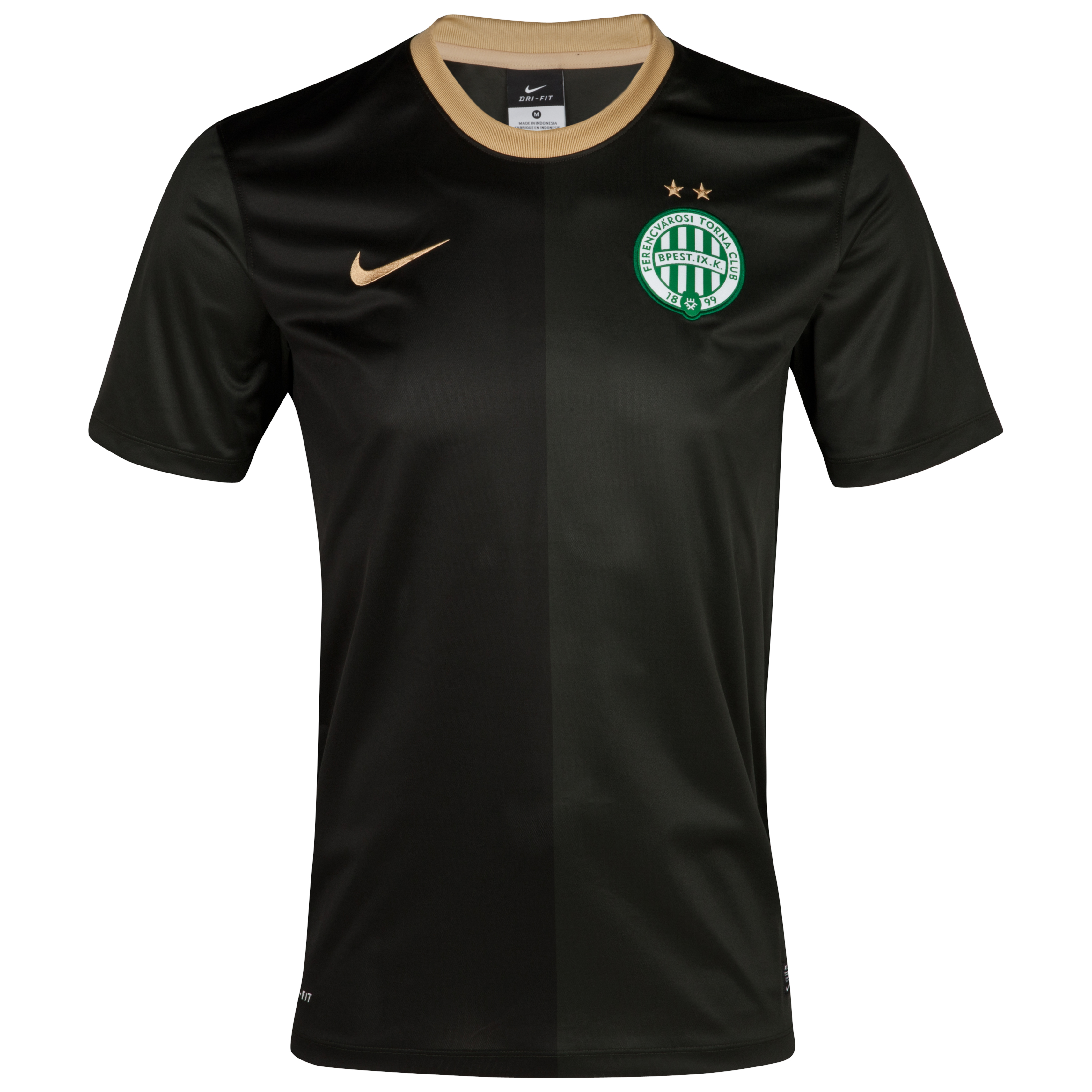 Ferencvaros 2012/13 Away Stadium Shirt - Dark Army/Jersey Gold/Jersey Gold
