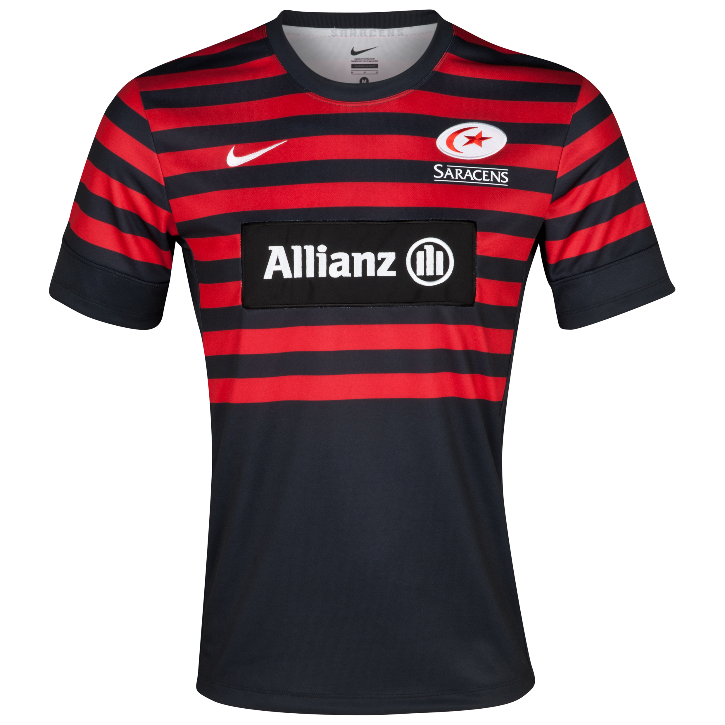 Saracens Home Replica Jersey 2012/13 - Black/University Red/White