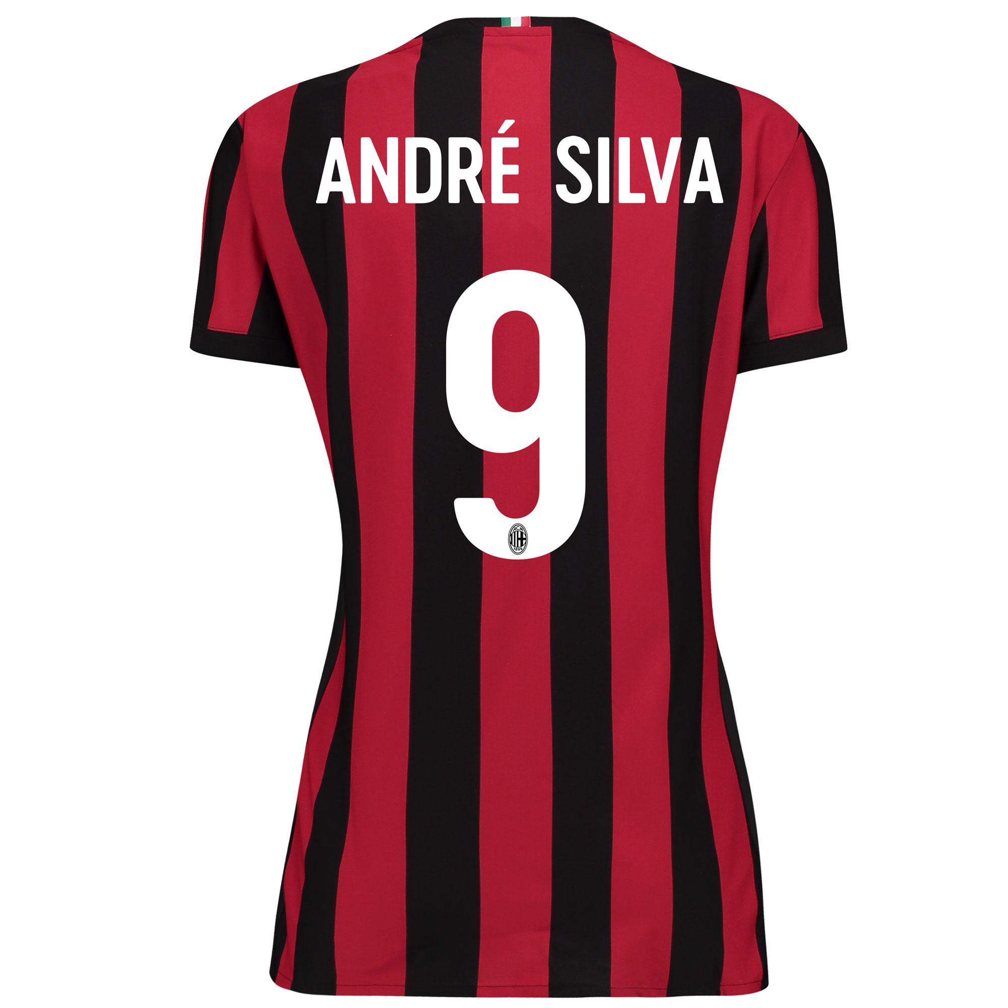 AC Milan Home Shirt 2017-18 - Womens with André Silva 9 printing