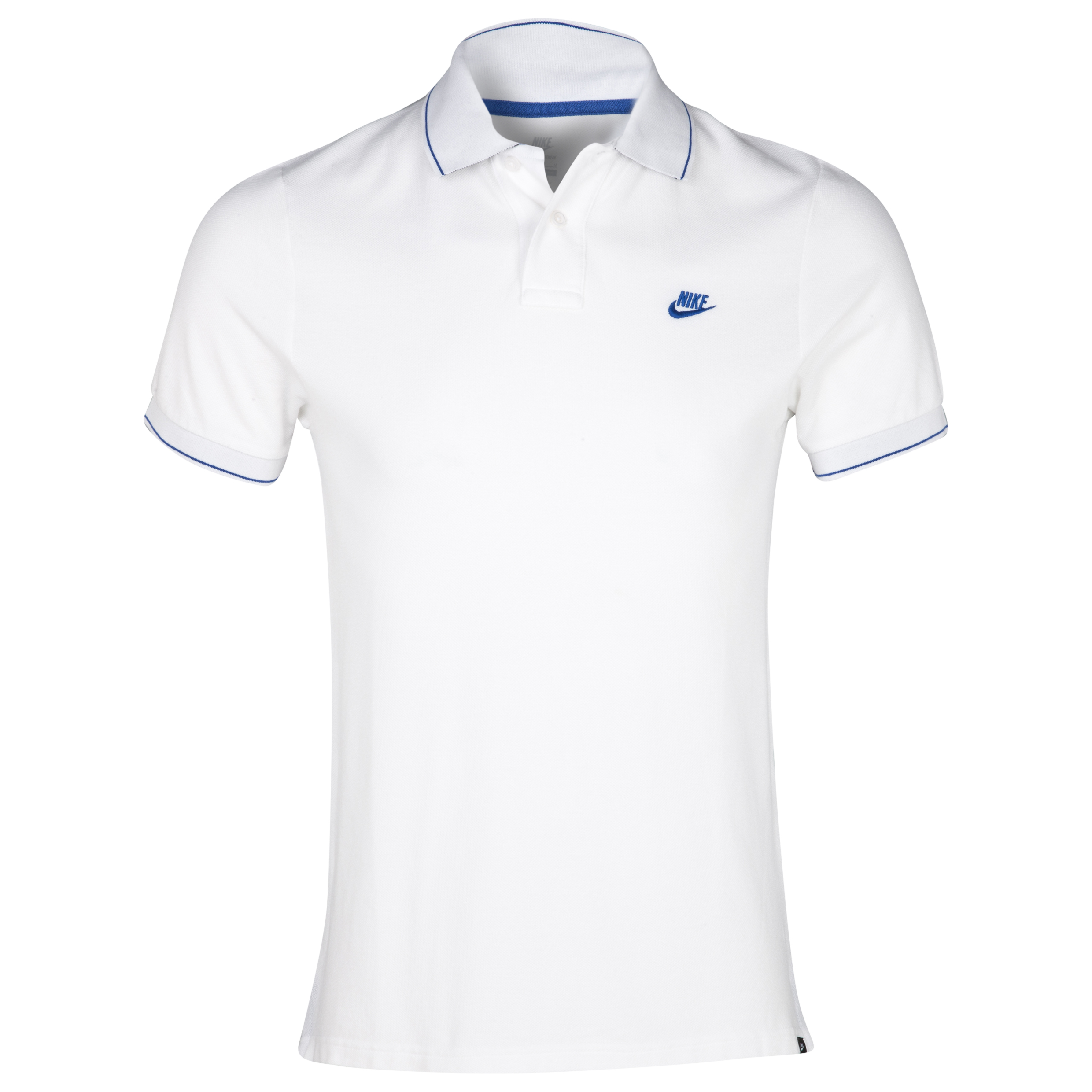 Nike L/weight Tipped GS Polo - White/Game Royal