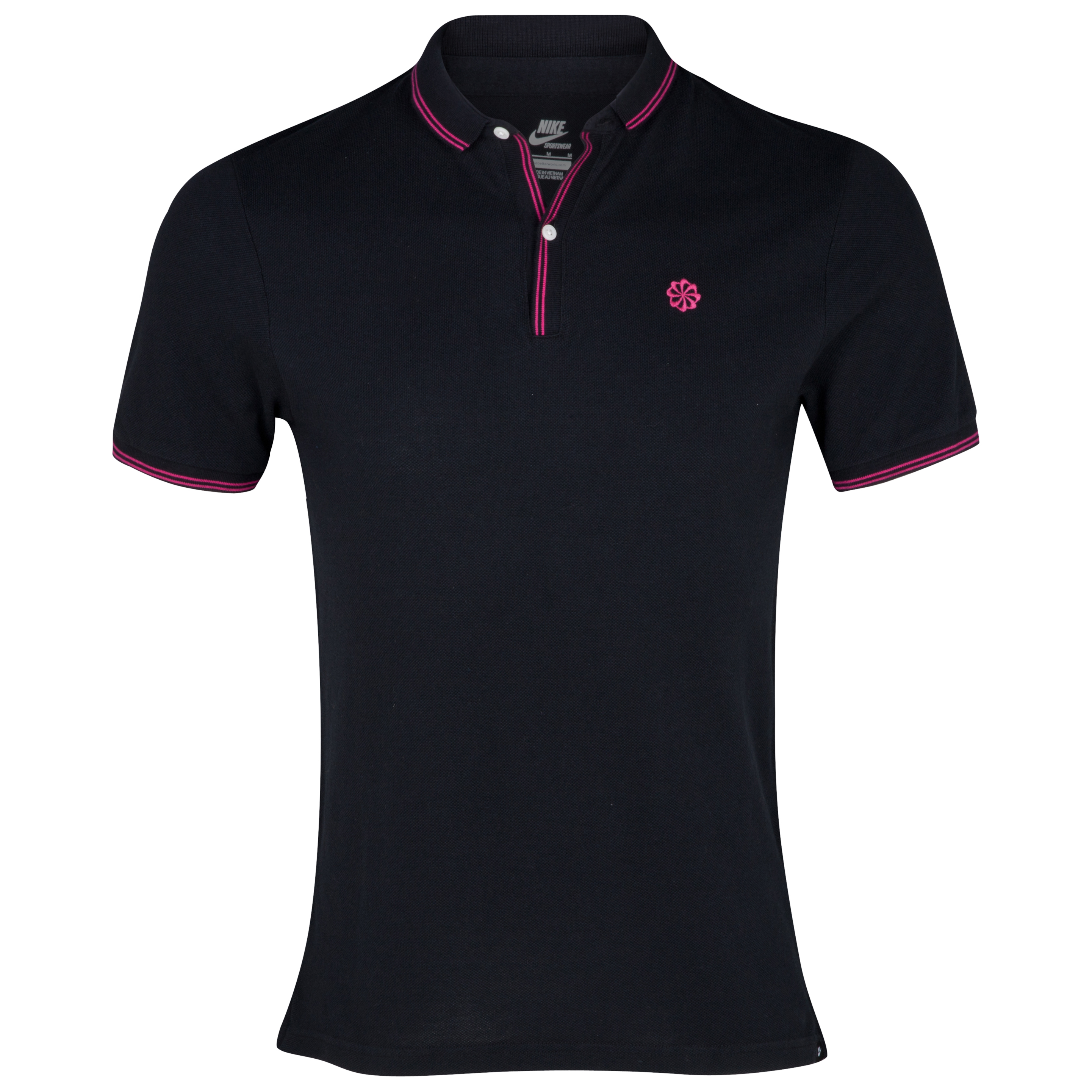 Nike Slim Collar Polo - Black/Fireberry