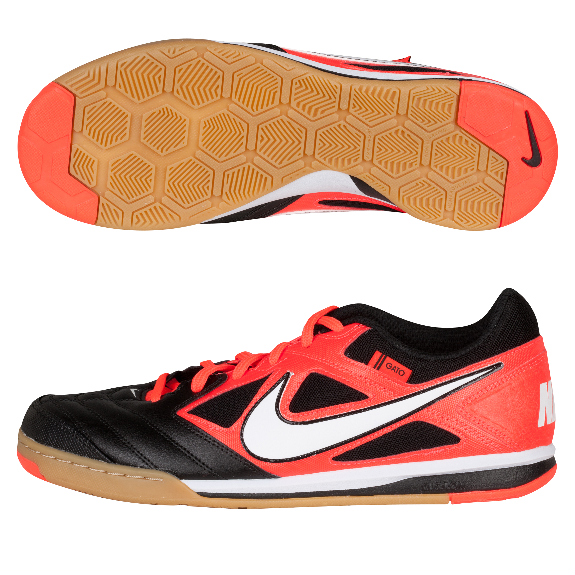 Nike Nike5 Gato Trainers - Black/White/Bright Crimson/GM Light