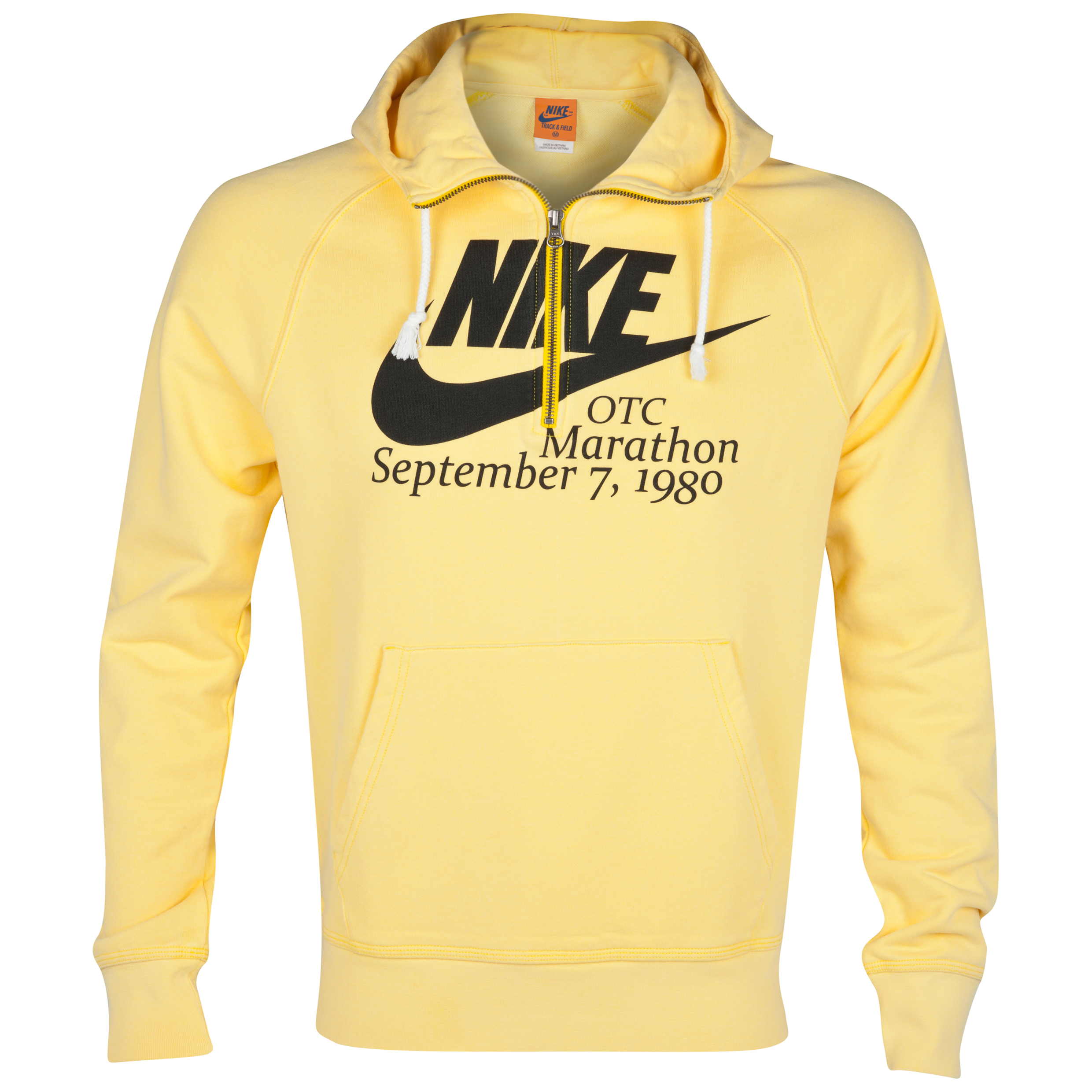 Nike AW77 Half Zip OTC80 Hoody - Yellow/Black