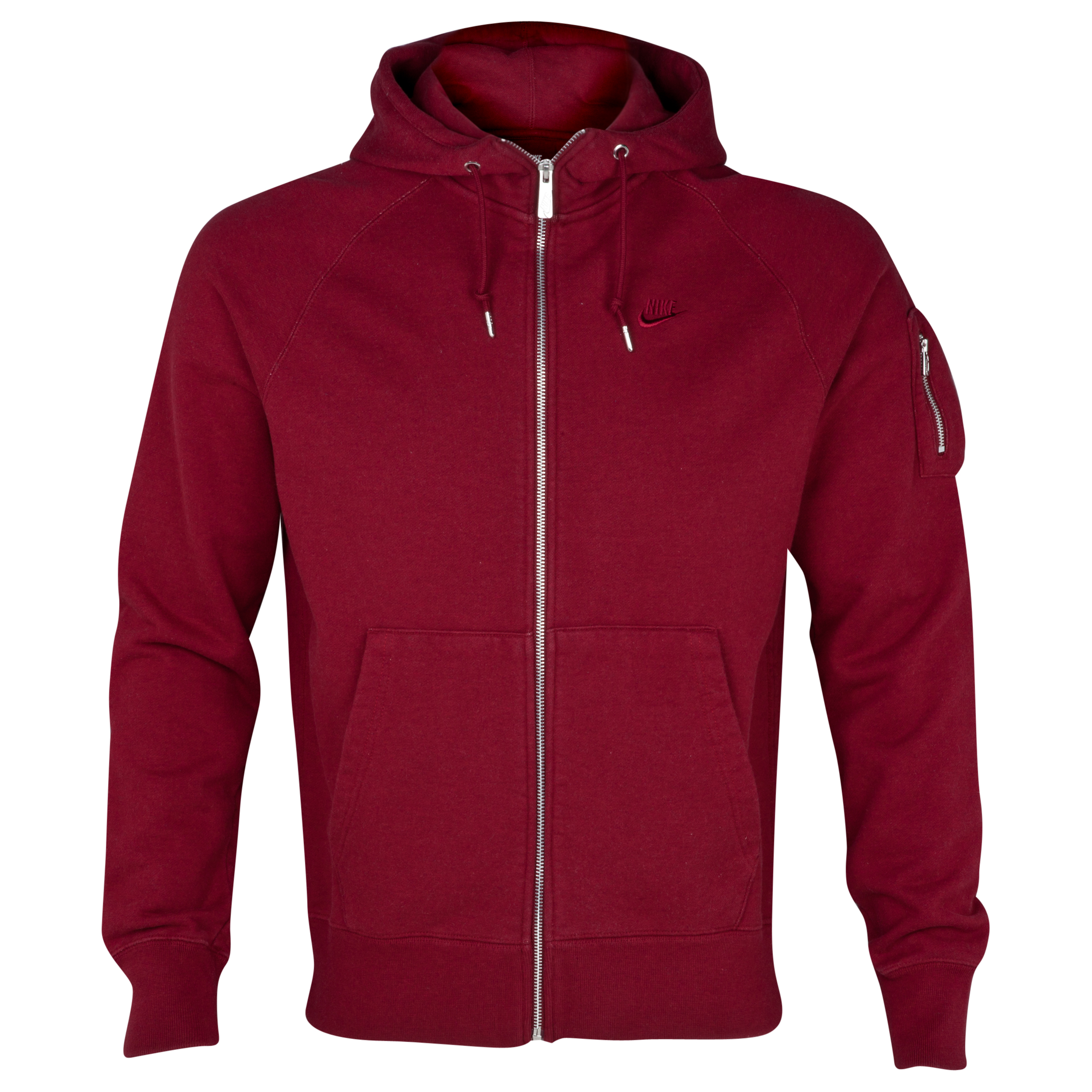 Nike AW77 Stadium FZ Hoody - Med Team Red Heather