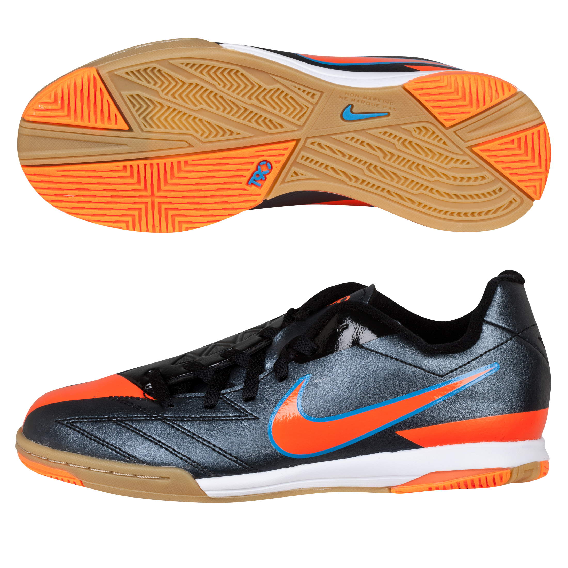 Nike Total90 Shoot IV Trainers - Black/Total Orange/Blue Glow - Kids