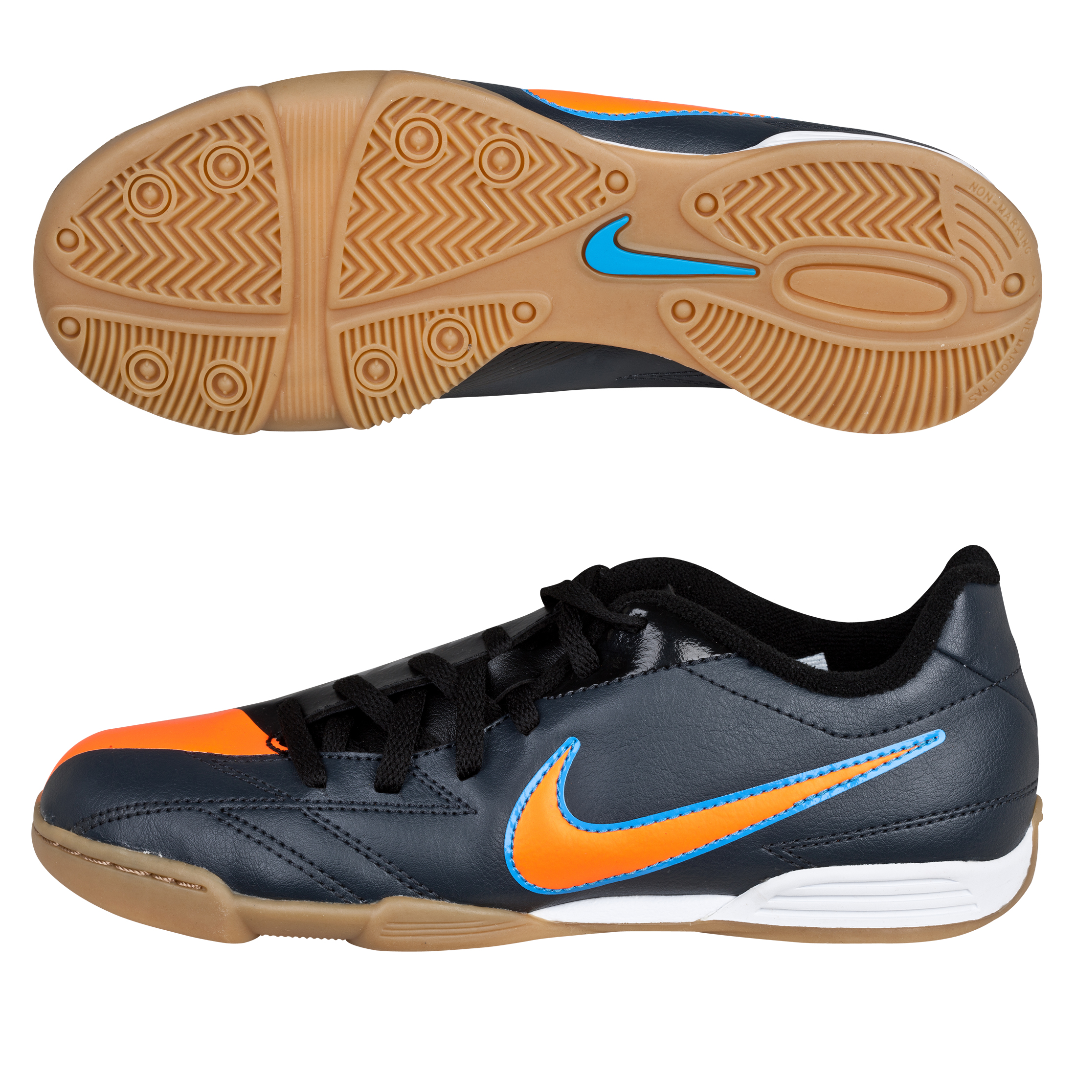 Nike Total90 Exacto IV Trainers - Metallic HMTT/Total Orange/Blue Glow/Black - Kids