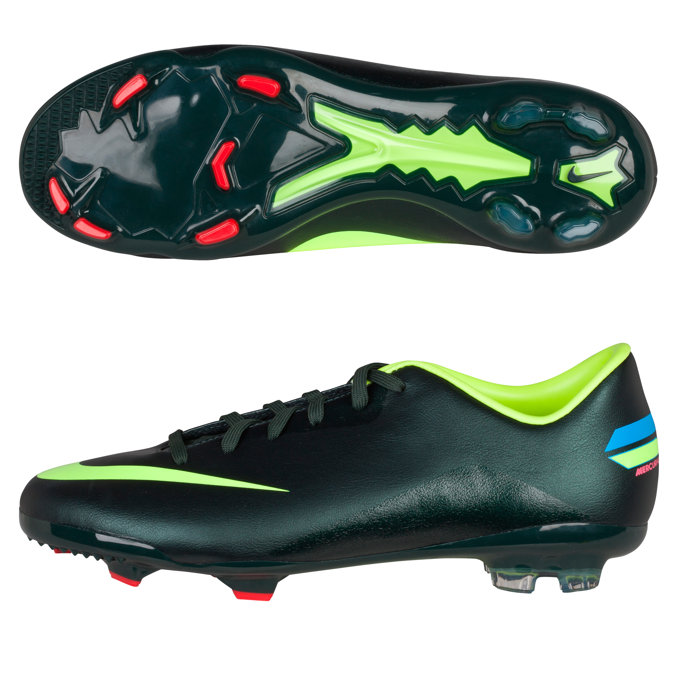 Nike Mercurial Glide III Firm ground Football Boots - Seaweed/Volt - Kids