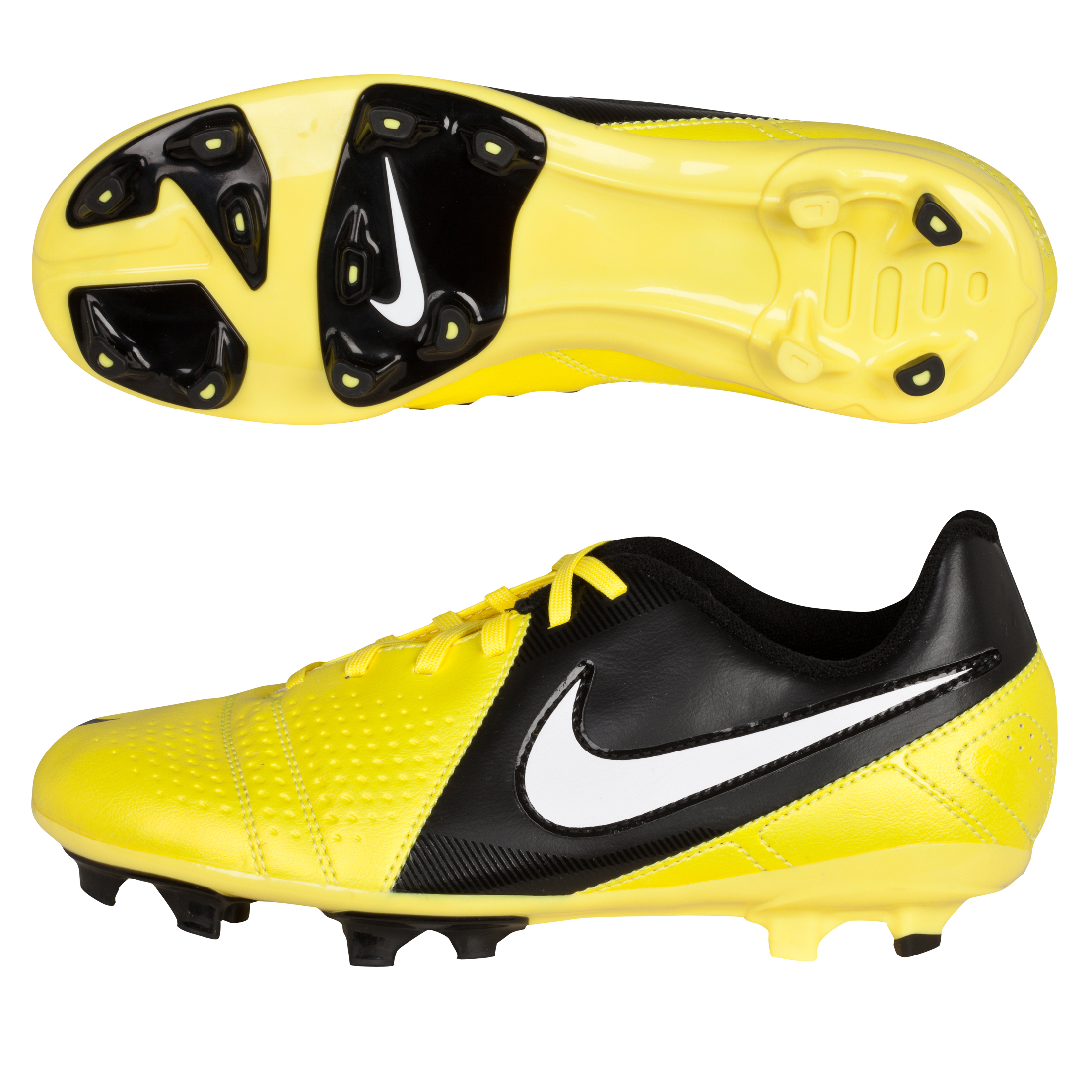 Nike CTR360 Libretto III Firm Ground Football Boots - Sonic Yellow/White/Black - Kids