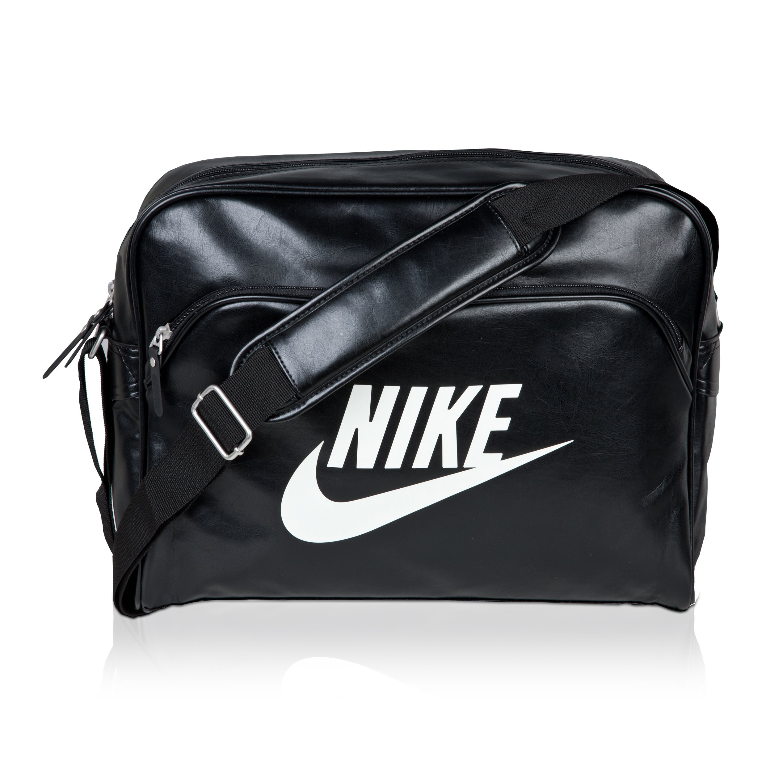 Nike Heritage Track Shoulder Bag - Black/White