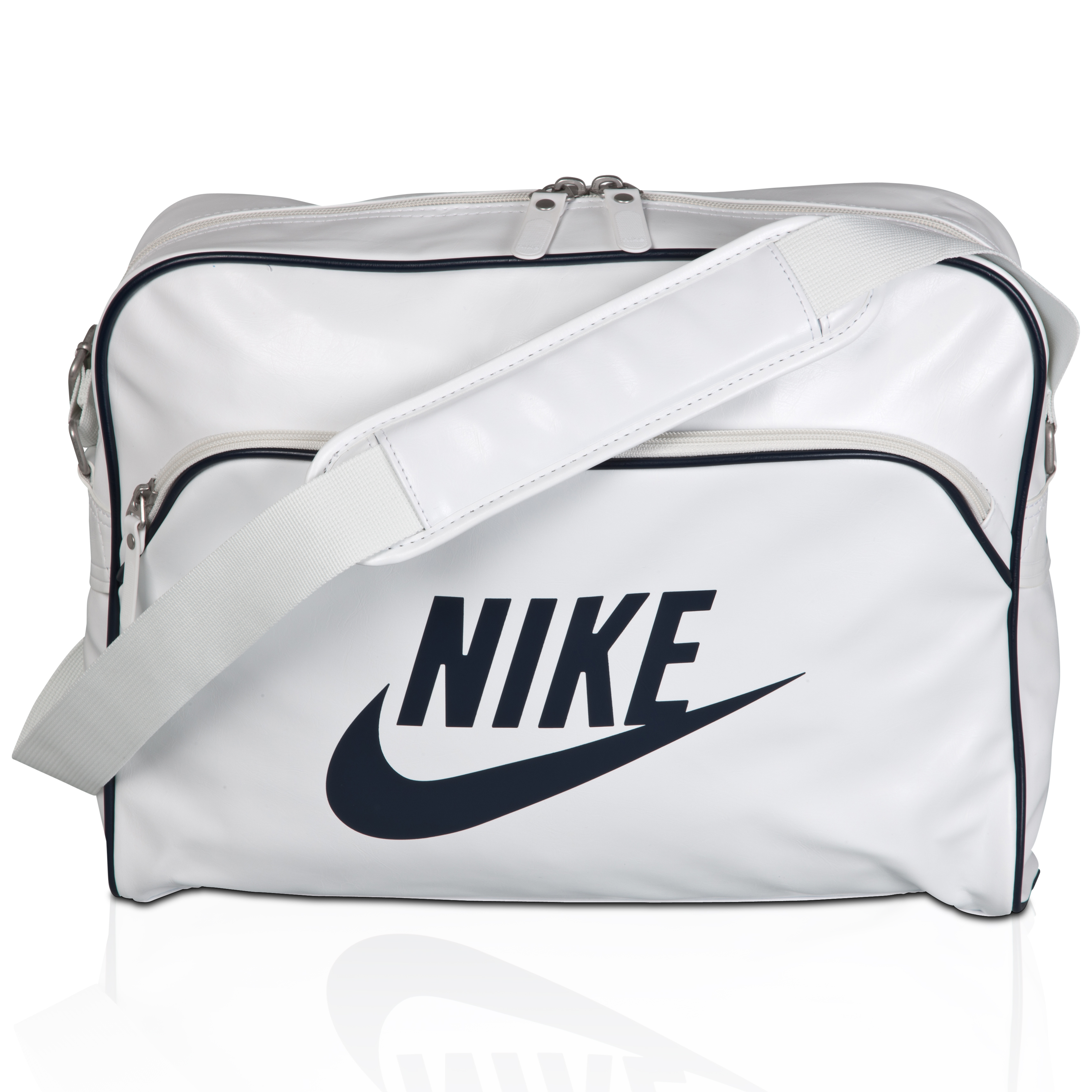 Nike Heritage Track Shoulder Bag - White/Black