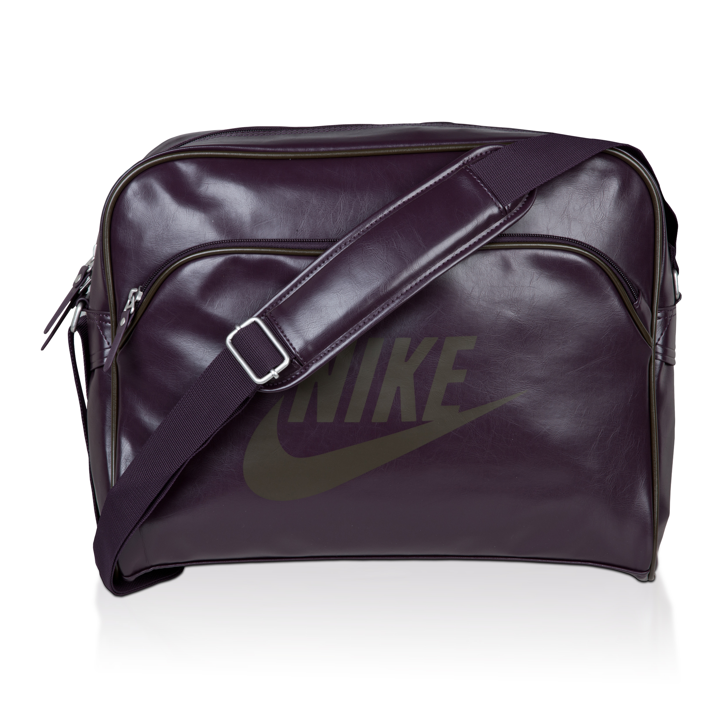 Nike Heritage Track Shoulder Bag - Port Wine/ Deep Smoke
