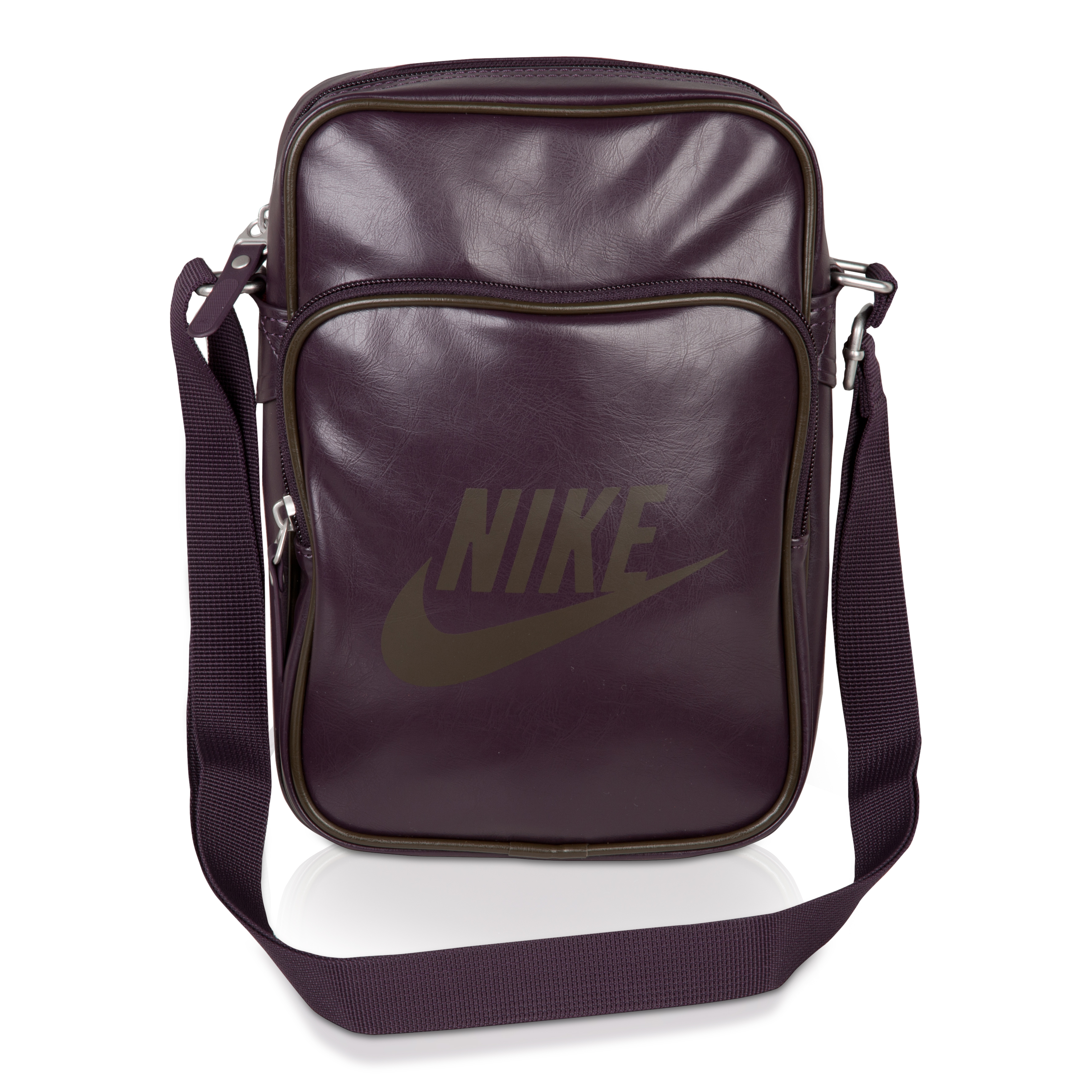 Nike Heritage Track Small Shoulder Bag - Port Wine/ Deep Smoke
