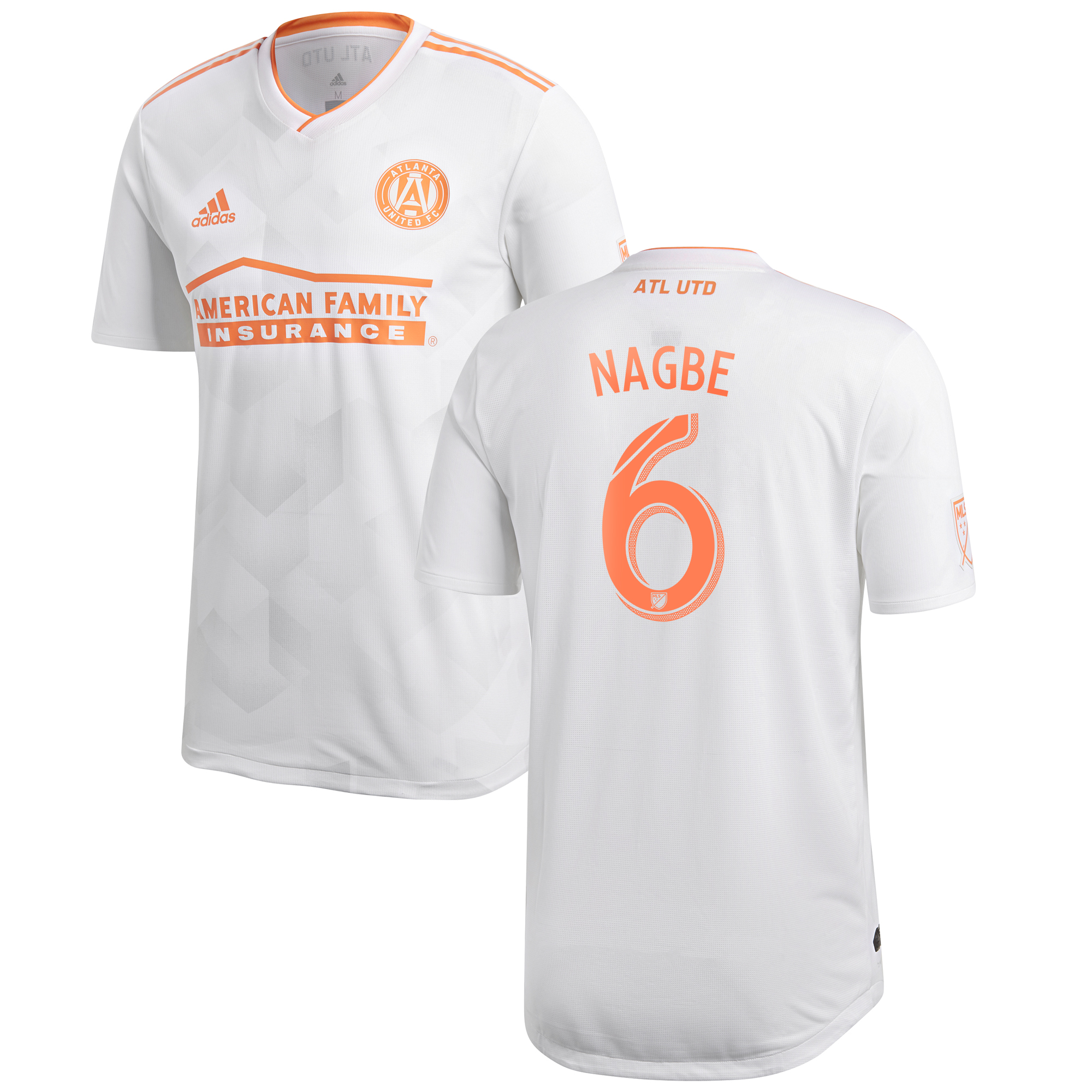Atlanta United Authentic Away Shirt 2018 with Nagbe 6 printing