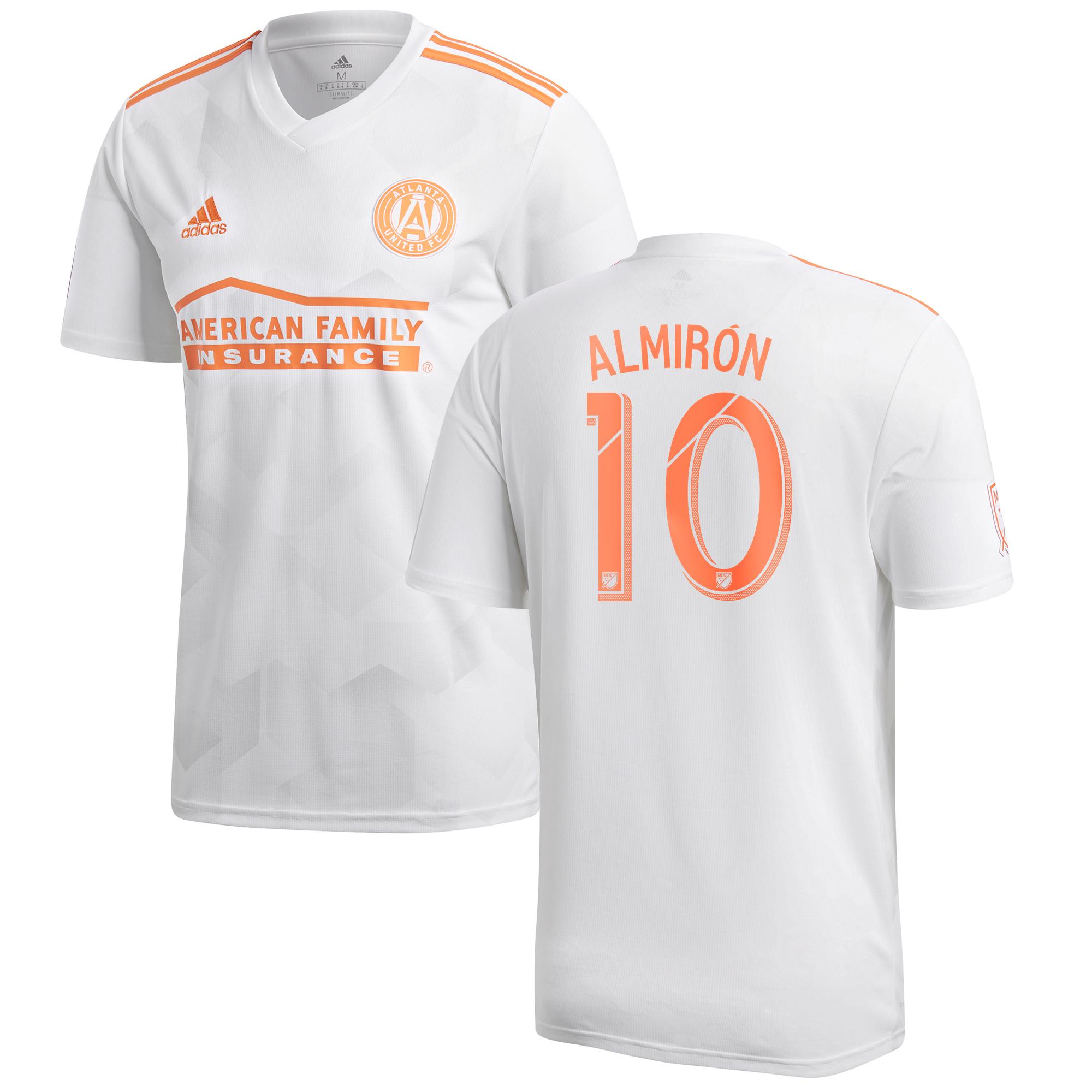 Atlanta United Away Shirt 2018 with Almirón 10 printing