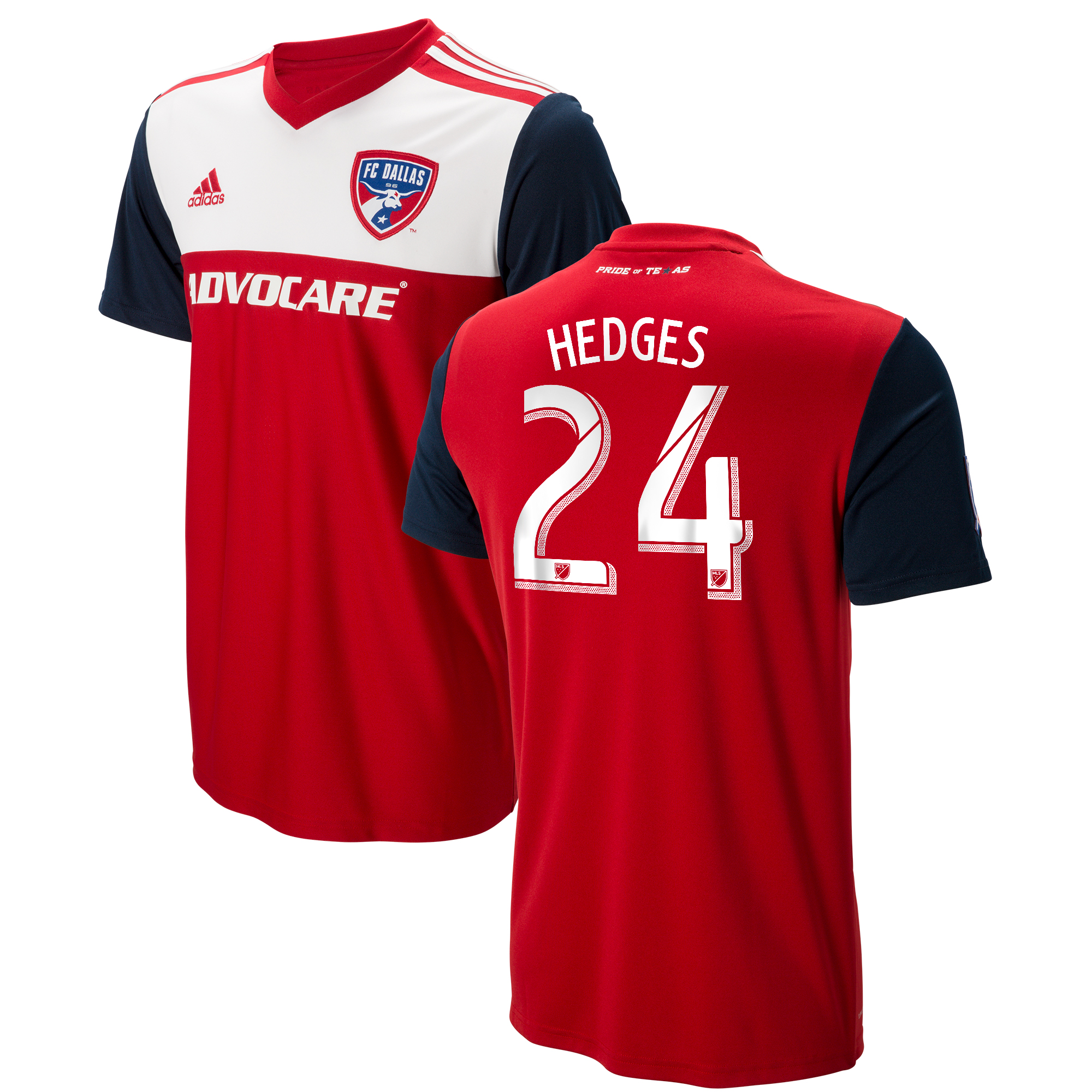 FC Dallas Home Shirt 2018 with Hedges 24 printing