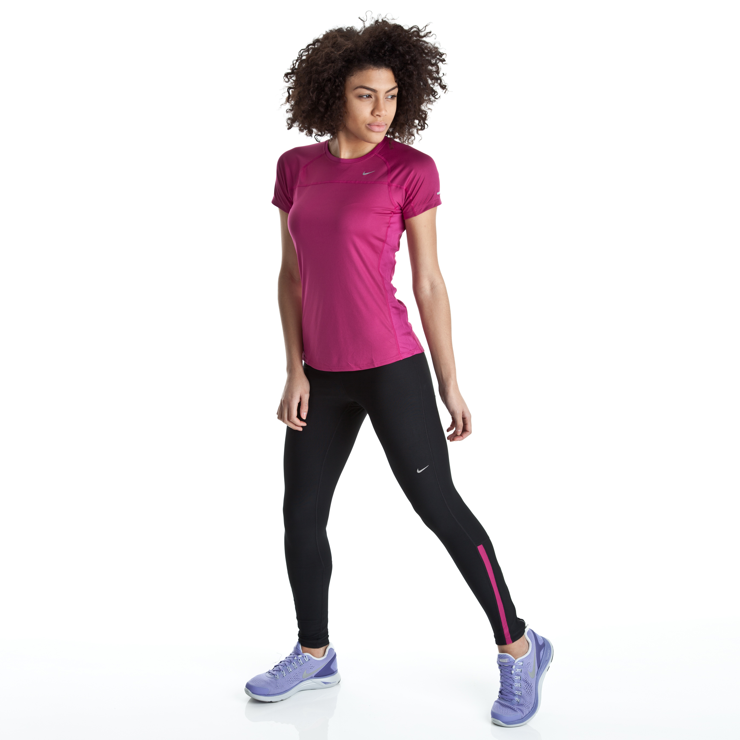 Nike Filament Tights - Black/Rave Pink/Matte Silver - Womens