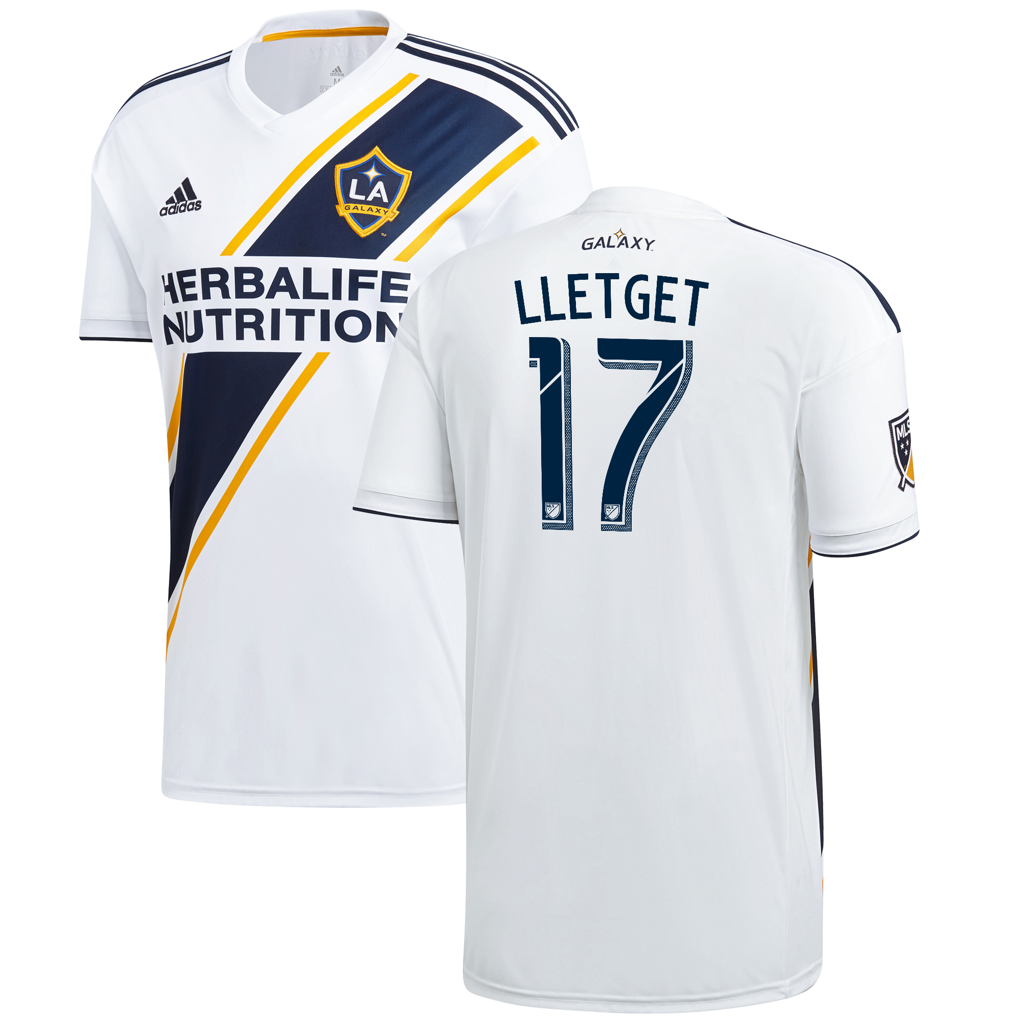 LA Galaxy Home Shirt 2018 with Lletget 17 printing