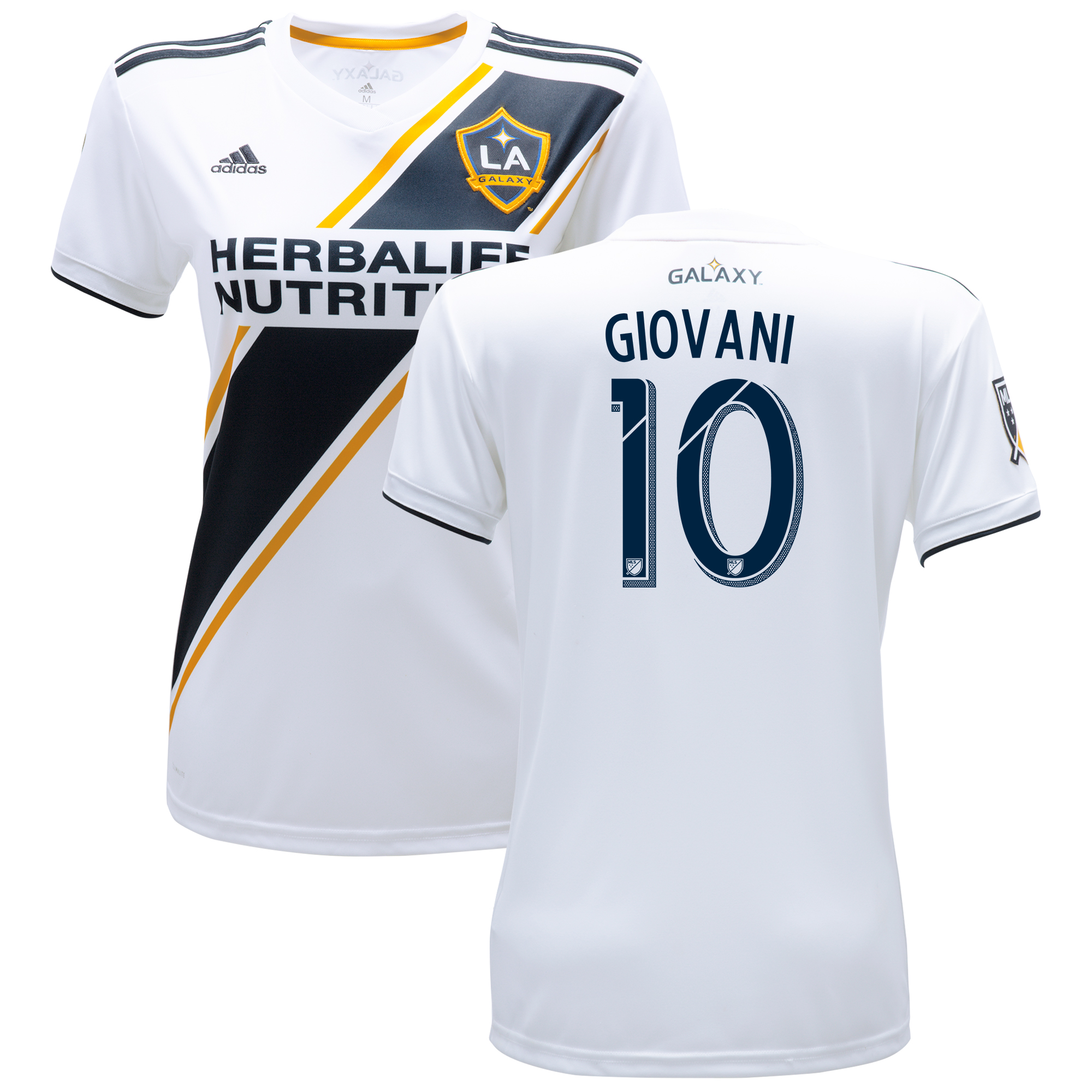 LA Galaxy Home Shirt 2018 - Womens with Giovani 10 printing