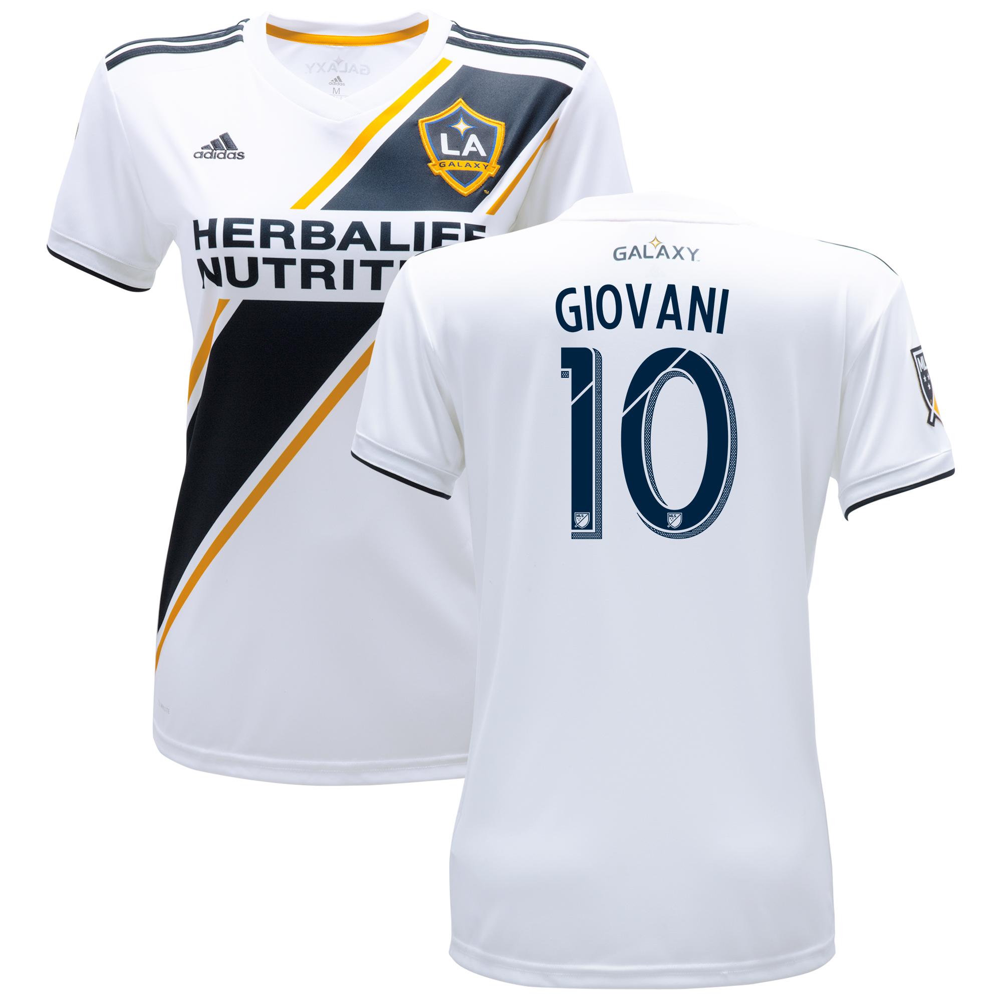 LA Galaxy Home Shirt 2018 - Womens with Giovani 10 printing